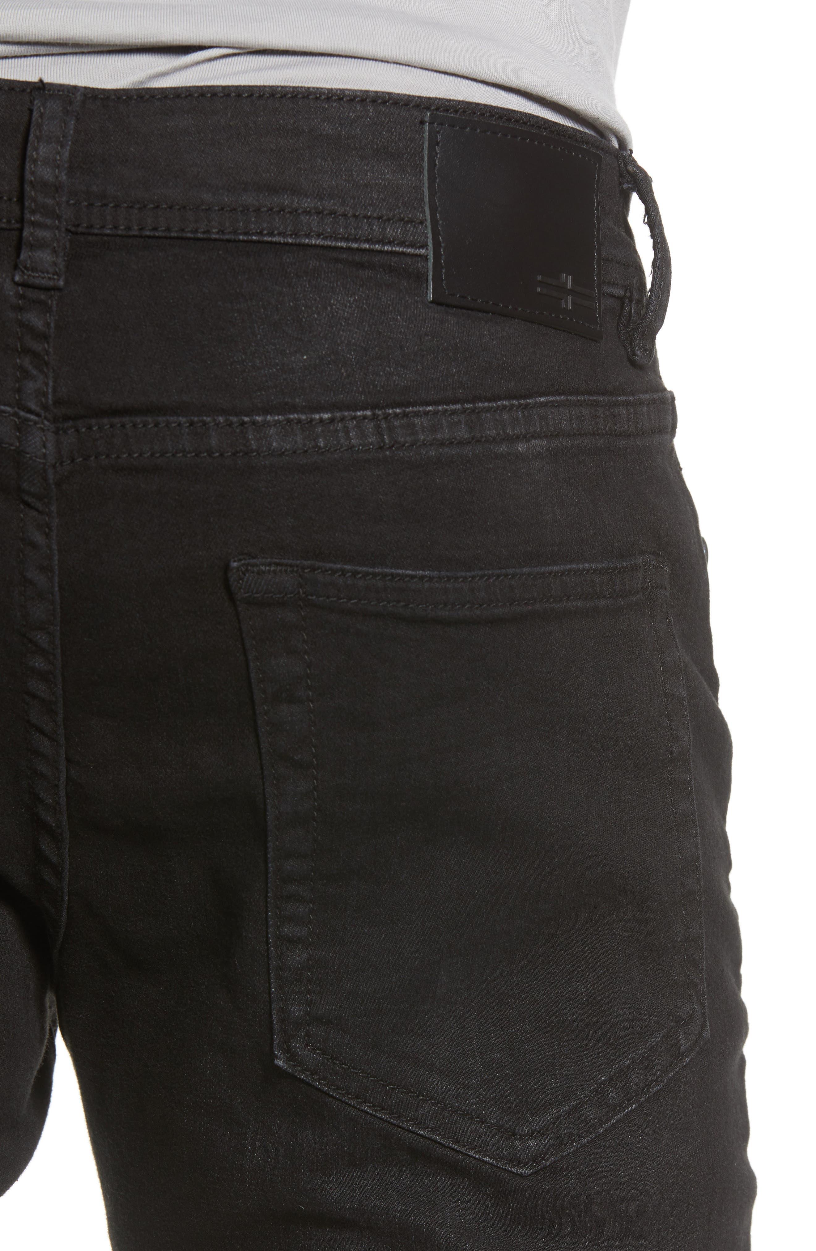 Kingston Slim Straight Leg Jeans,                             Alternate thumbnail 4, color,                             BULLET DARK