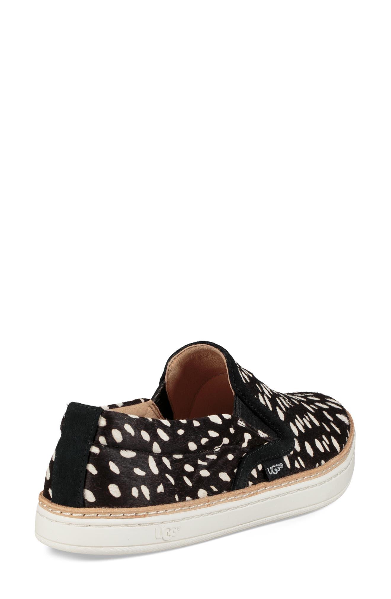 Soleda Genuine Calf Hair Slip-On Sneaker,                             Alternate thumbnail 2, color,                             BLACK
