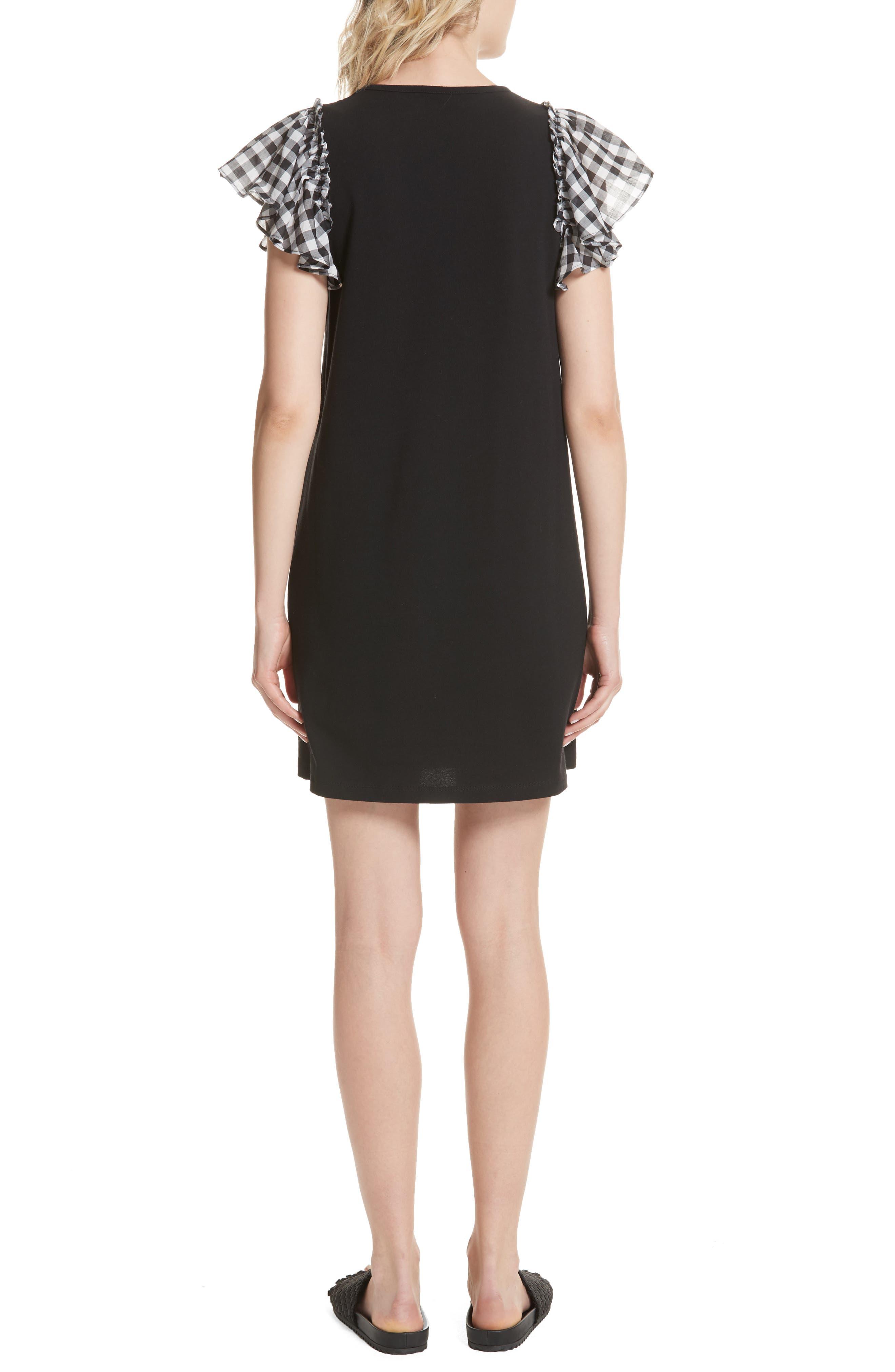 check sleeve dress,                             Alternate thumbnail 2, color,