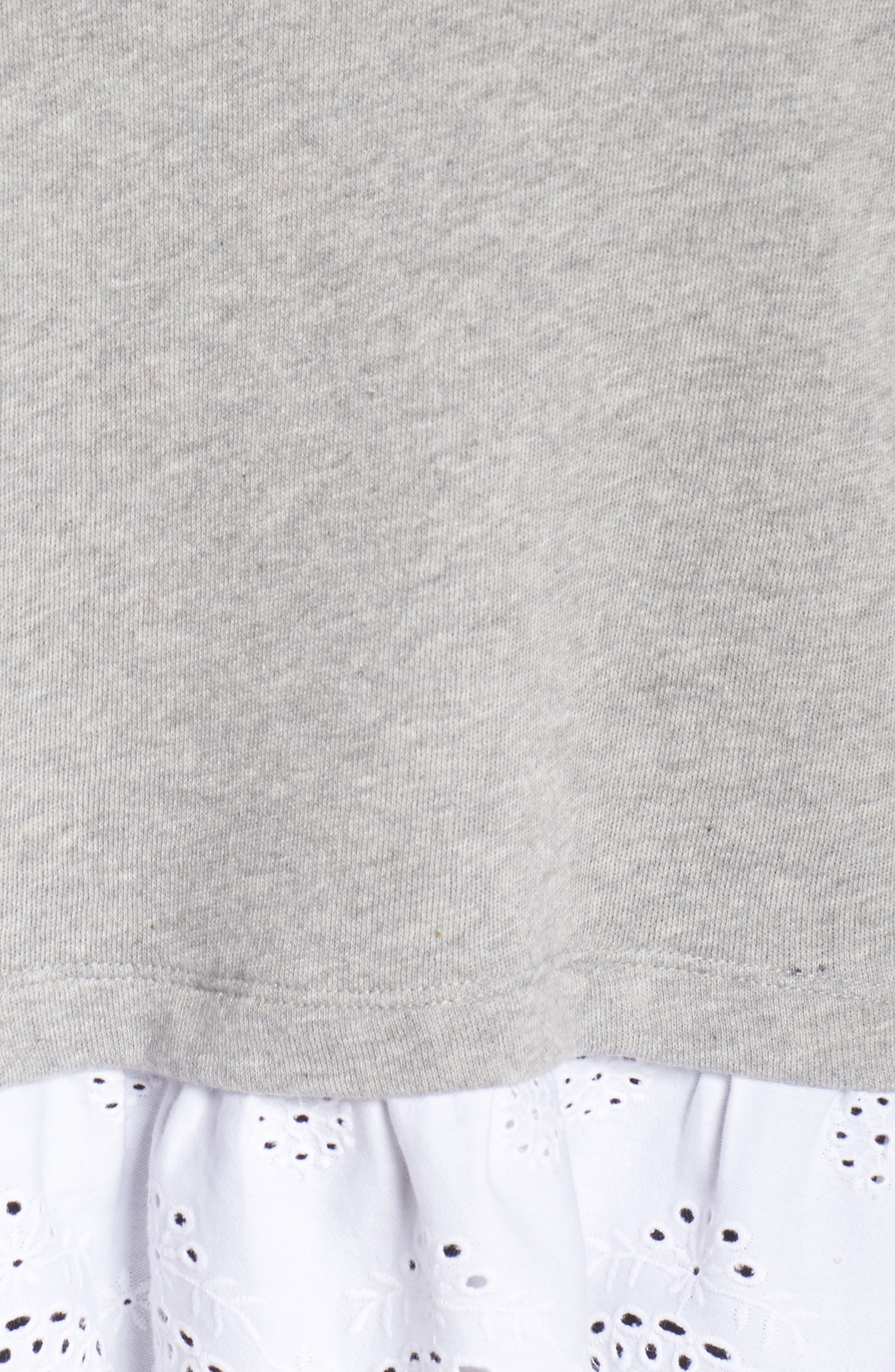 Twofer Lace Hem Sweatshirt,                             Alternate thumbnail 6, color,                             050
