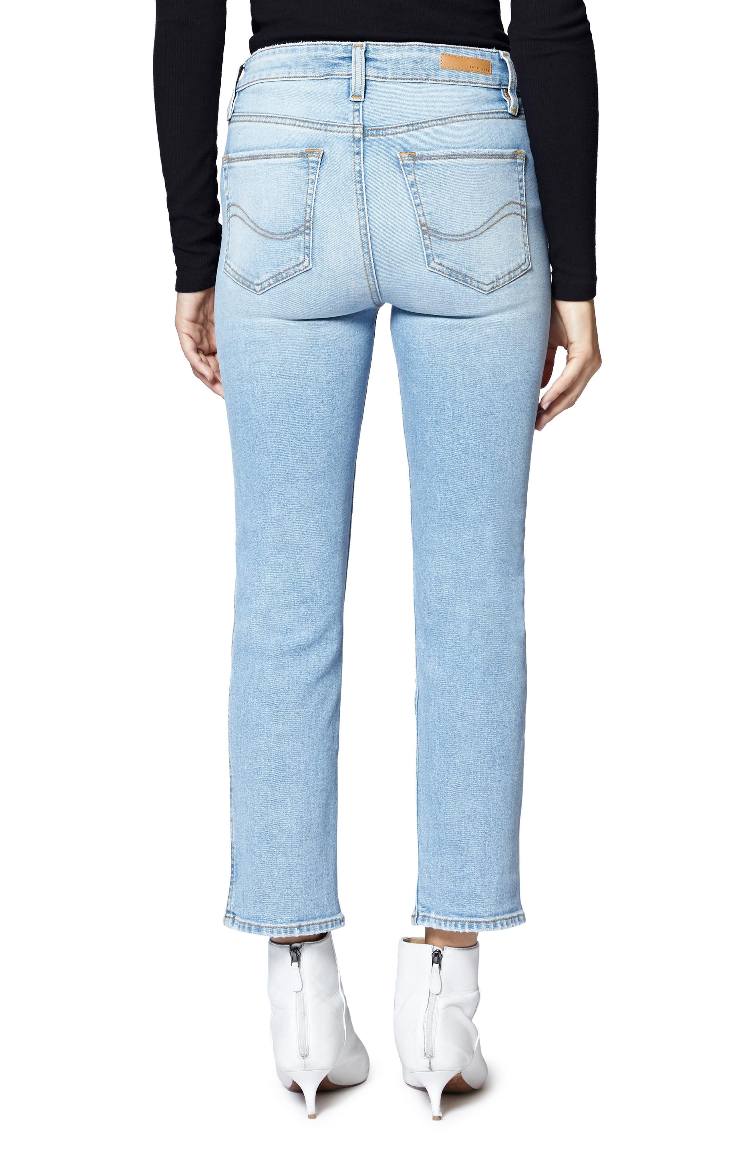 Modern Crop Straight Leg Jeans,                             Alternate thumbnail 2, color,                             FORUM LIGHT BLUE