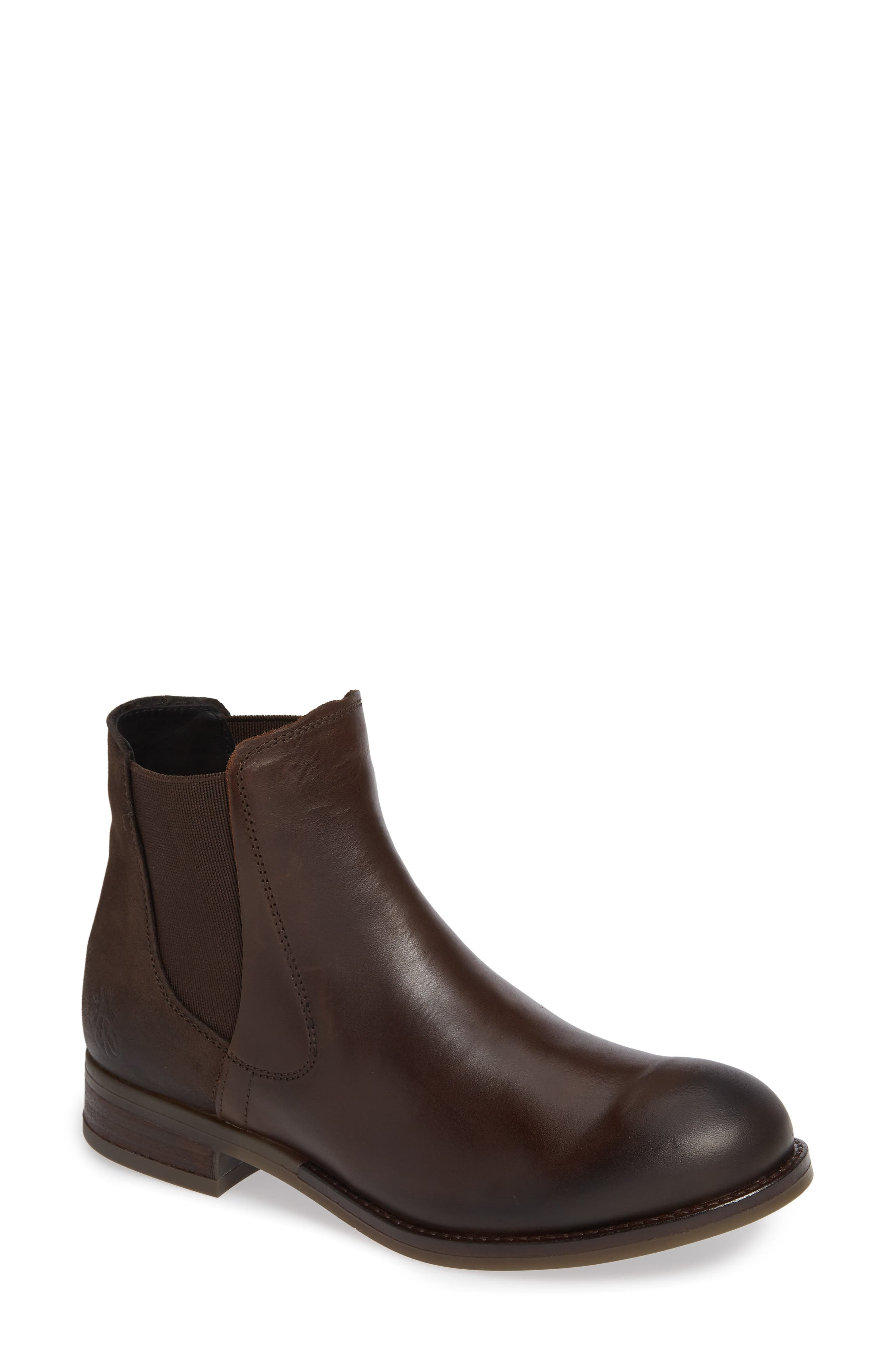 Alls Chelsea Bootie,                             Main thumbnail 1, color,                             DARK BROWN LEATHER