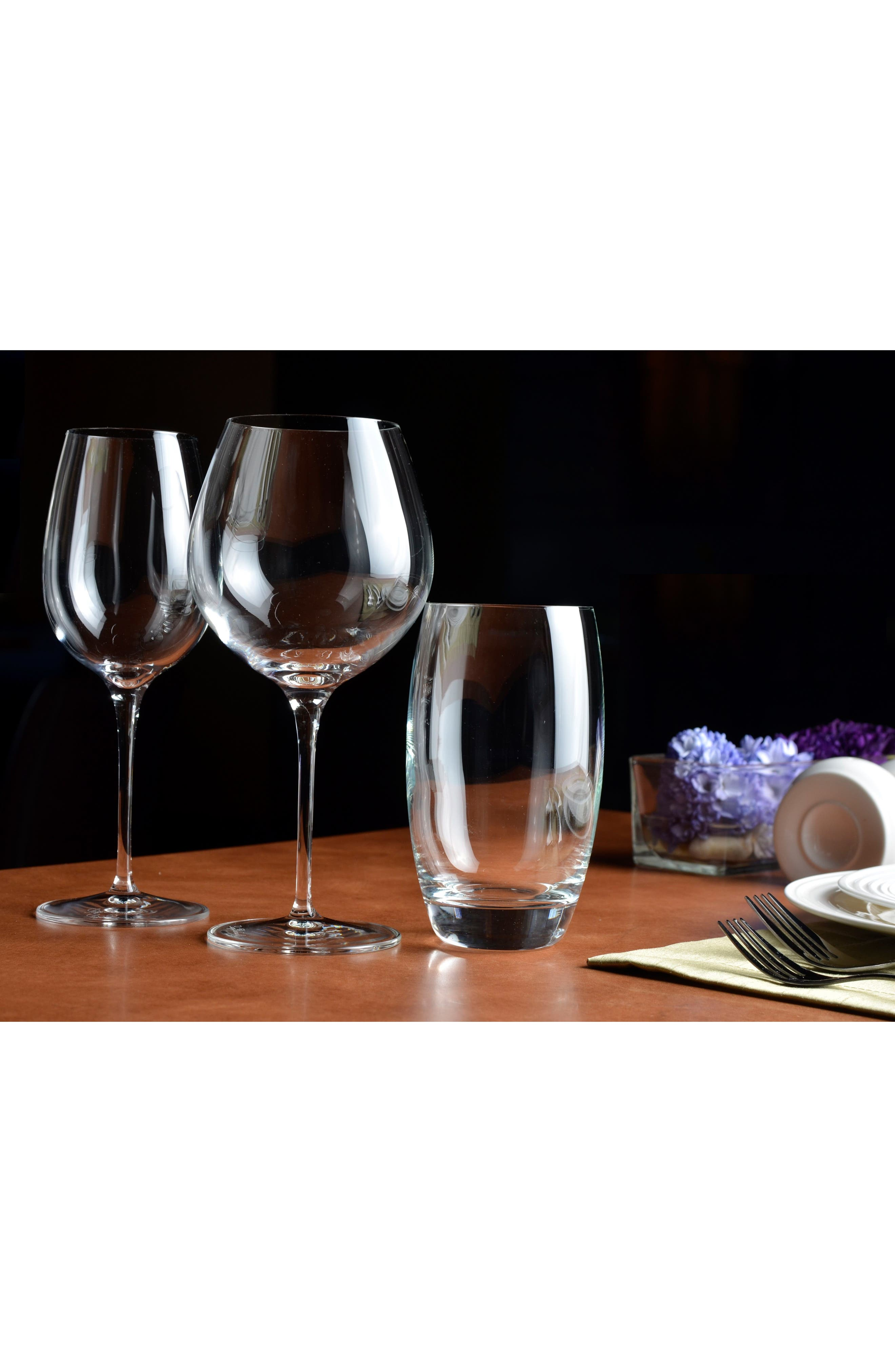 'Crescendo' Bourgogne Glasses,                             Alternate thumbnail 3, color,                             CLEAR