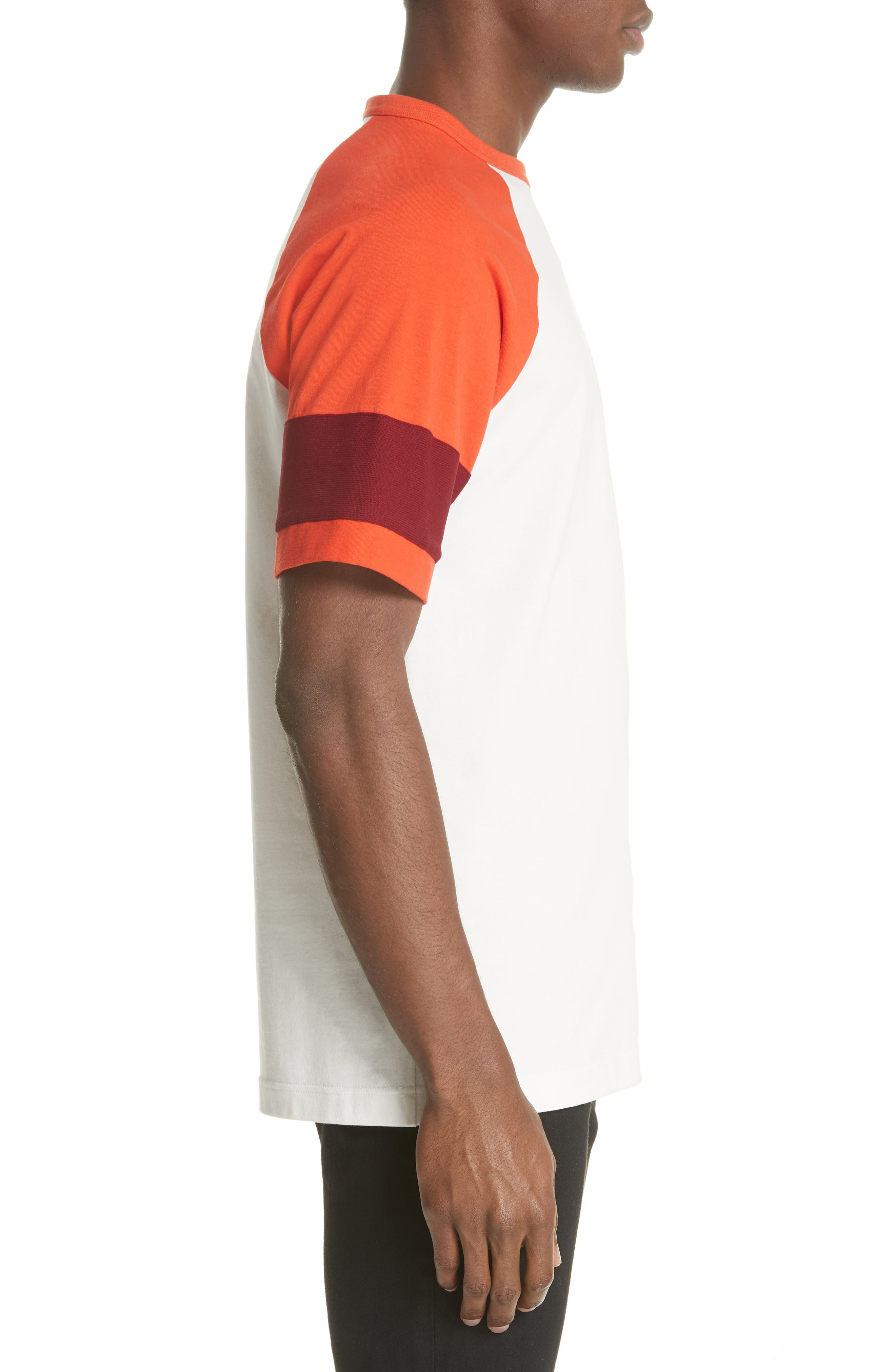 Jersey Varsity T-Shirt,                             Alternate thumbnail 3, color,                             WHITE