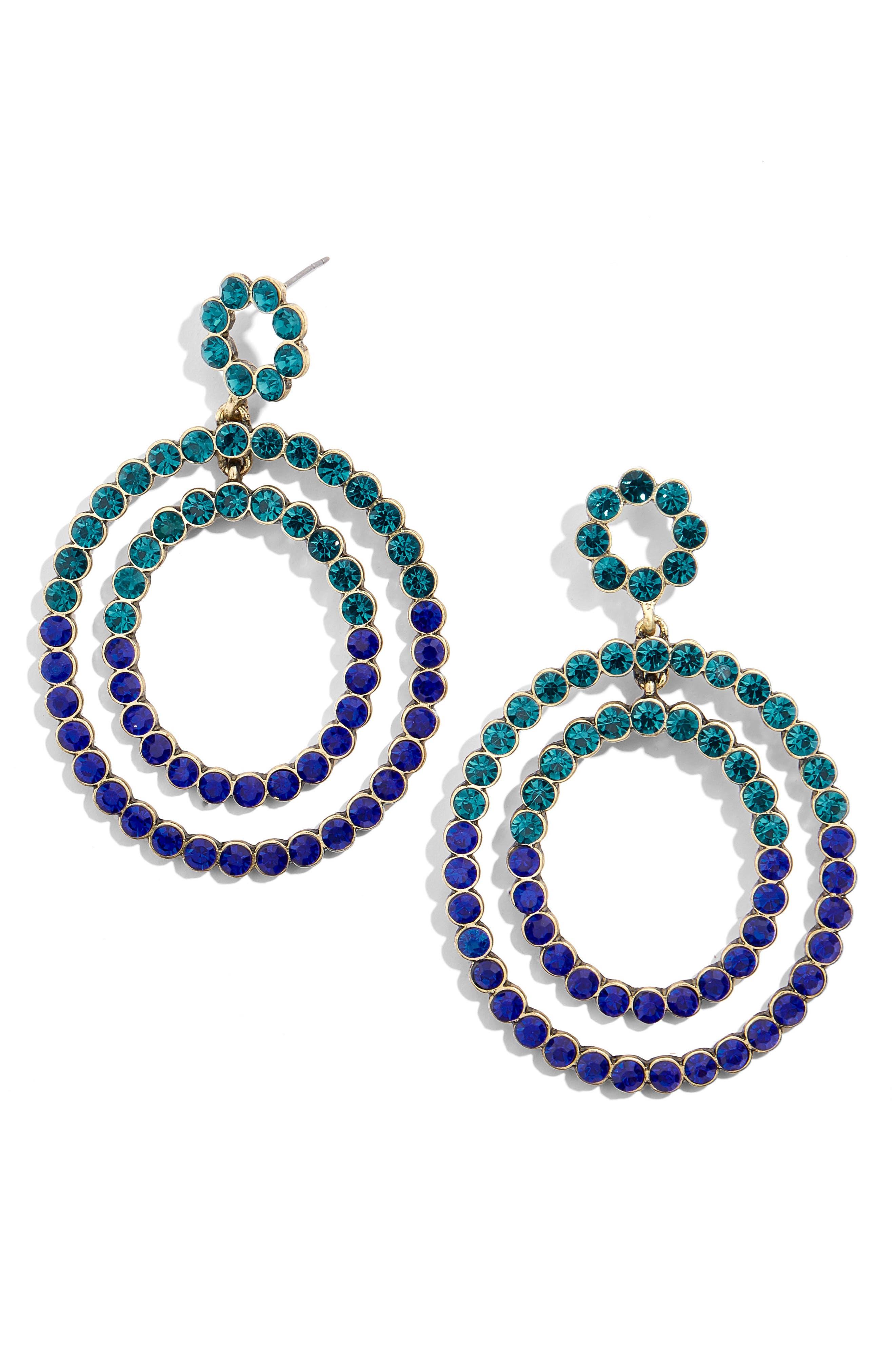 Florette Drop Earrings,                         Main,                         color, BLUE