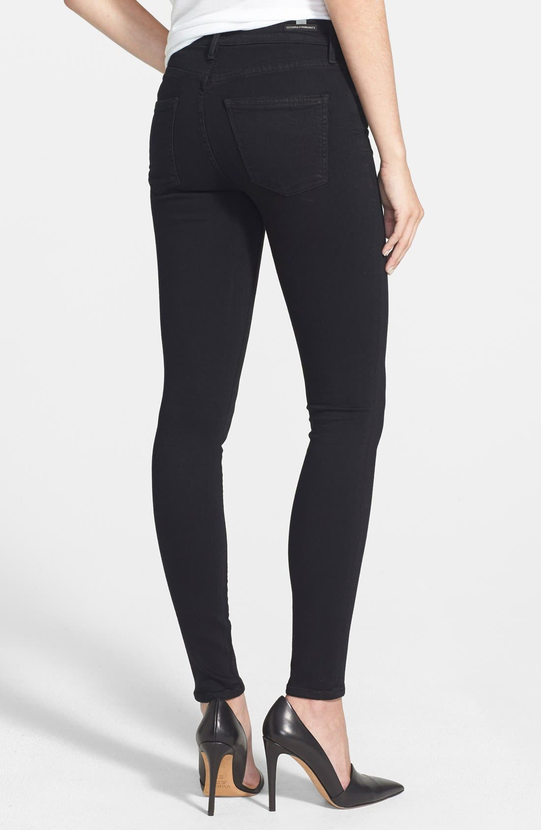 CITIZENS OF HUMANITY,                             Rocket High Waist Skinny Jeans,                             Alternate thumbnail 3, color,                             001