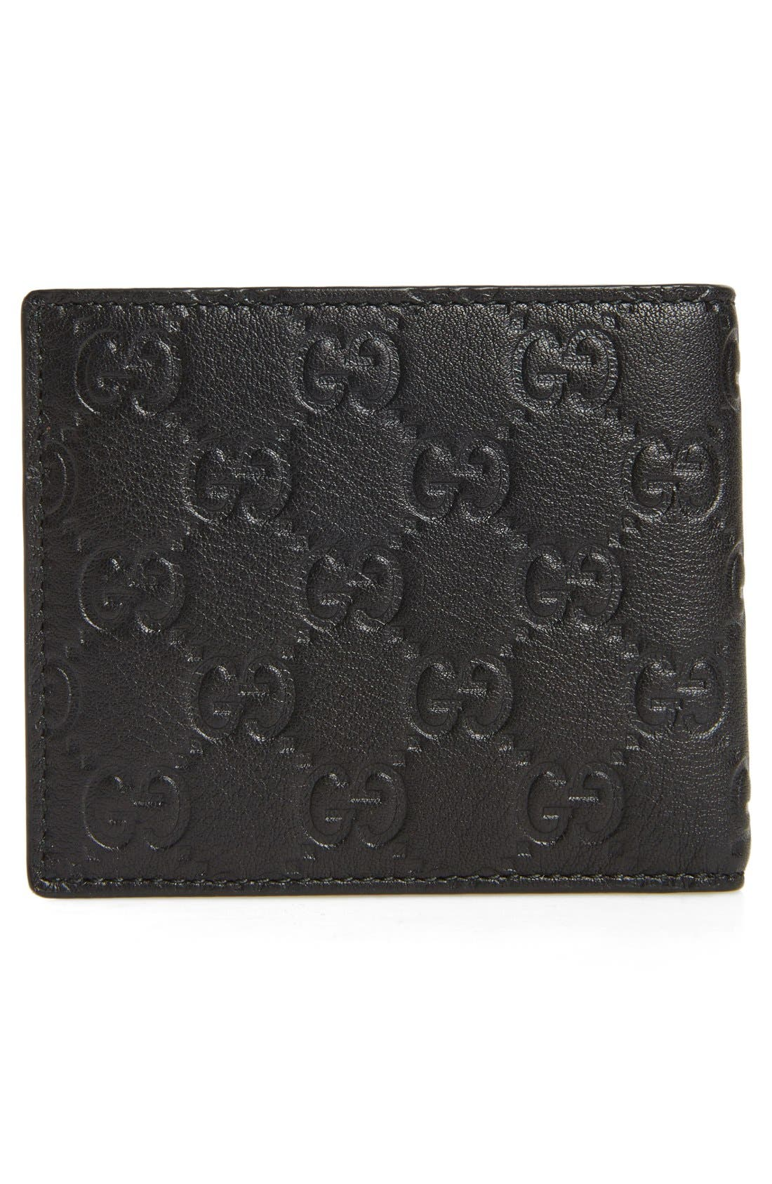 Logo Embossed Calfskin Leather Wallet,                             Alternate thumbnail 3, color,                             002
