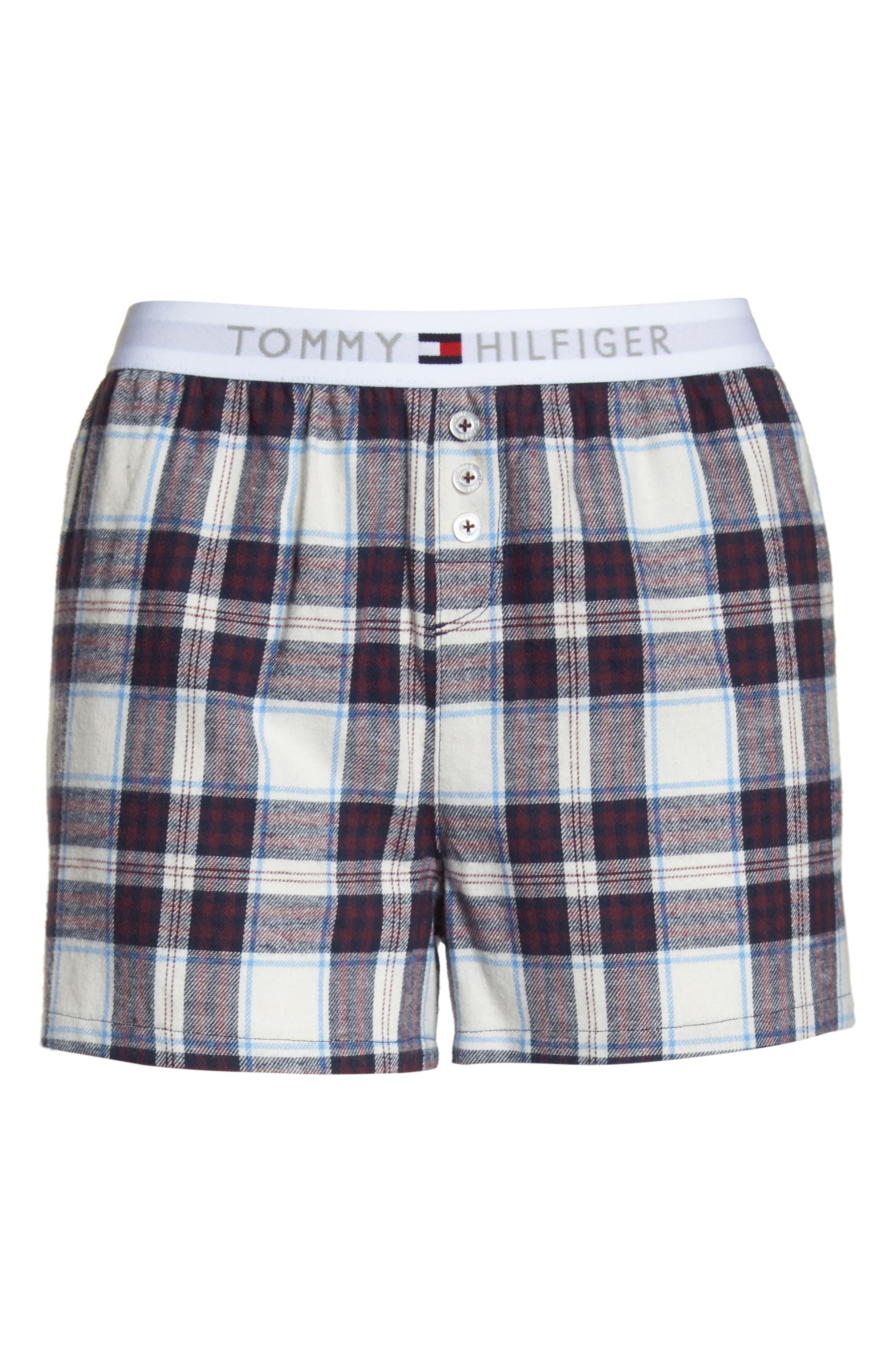 Plaid Pajama Shorts,                             Alternate thumbnail 6, color,                             SWEET DREAMS FIG TARTAN