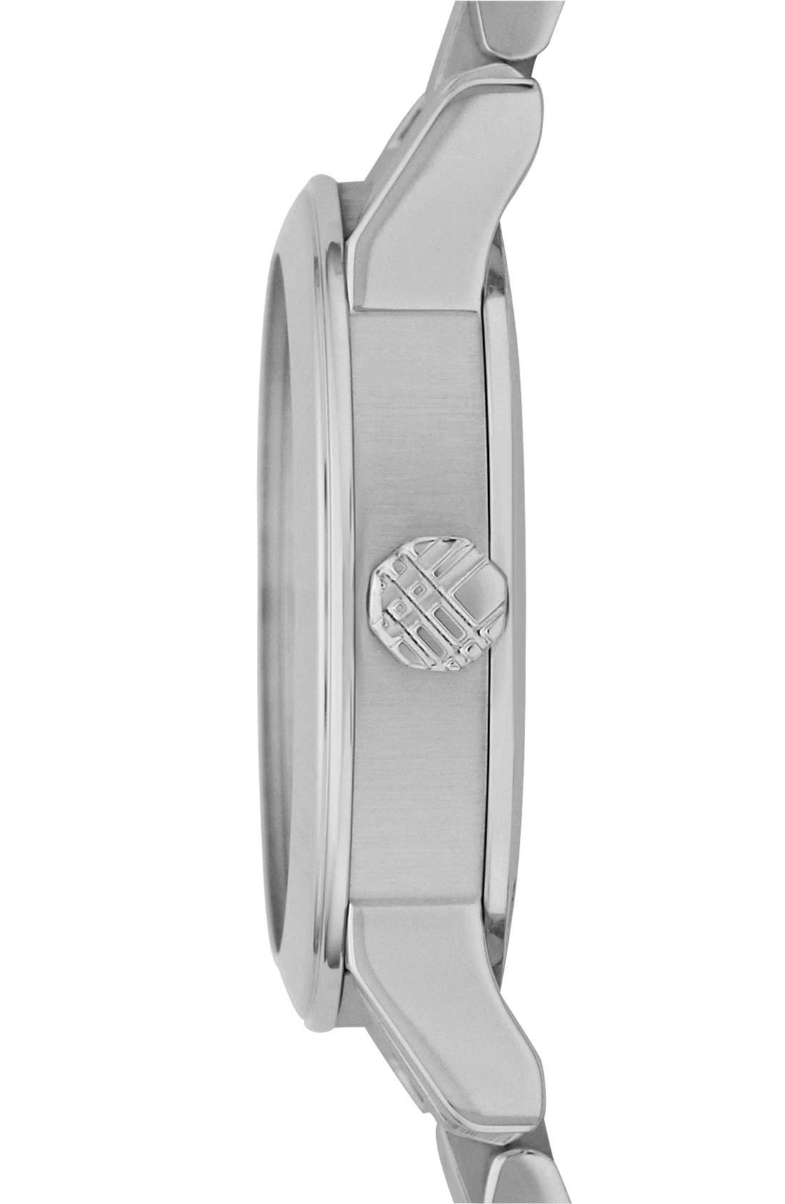 Small Check Stamped Bracelet Watch, 26mm,                             Alternate thumbnail 3, color,                             040