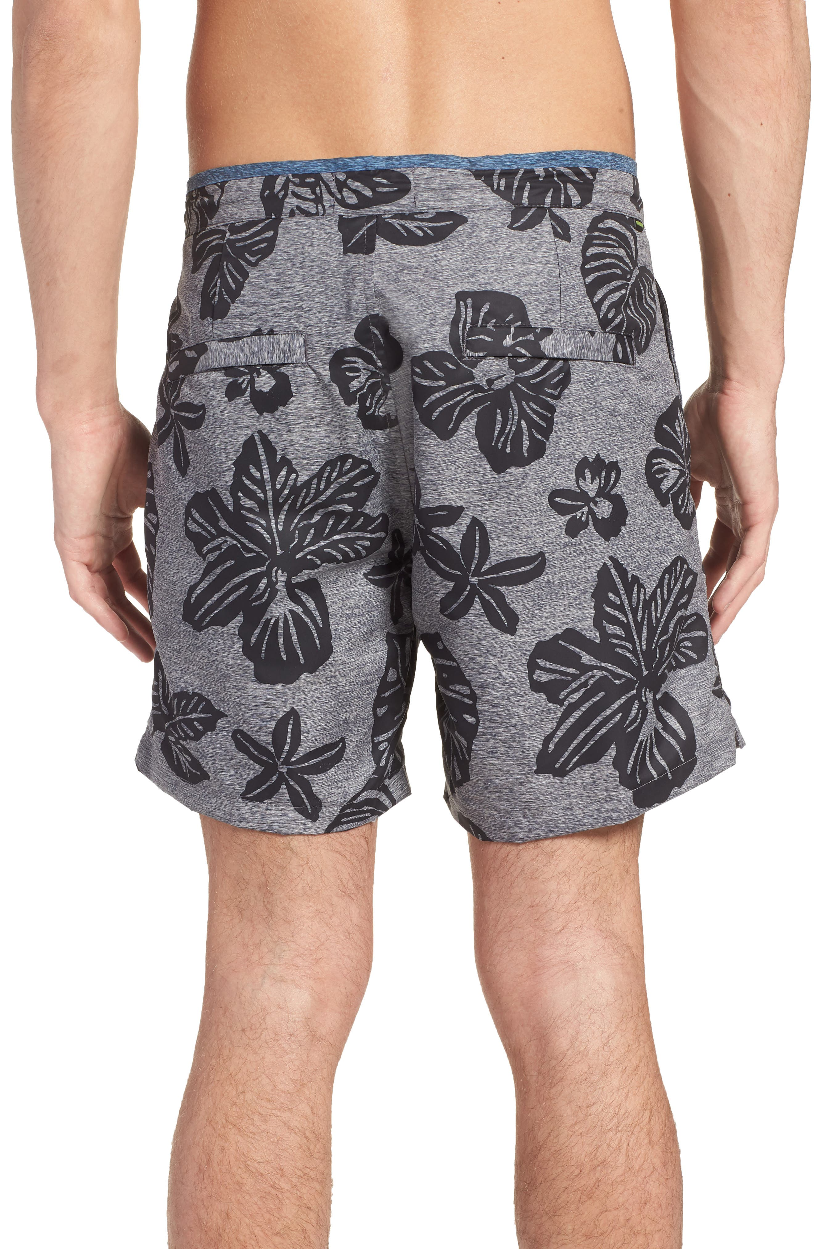 Print Mélange Board Shorts,                             Alternate thumbnail 4, color,