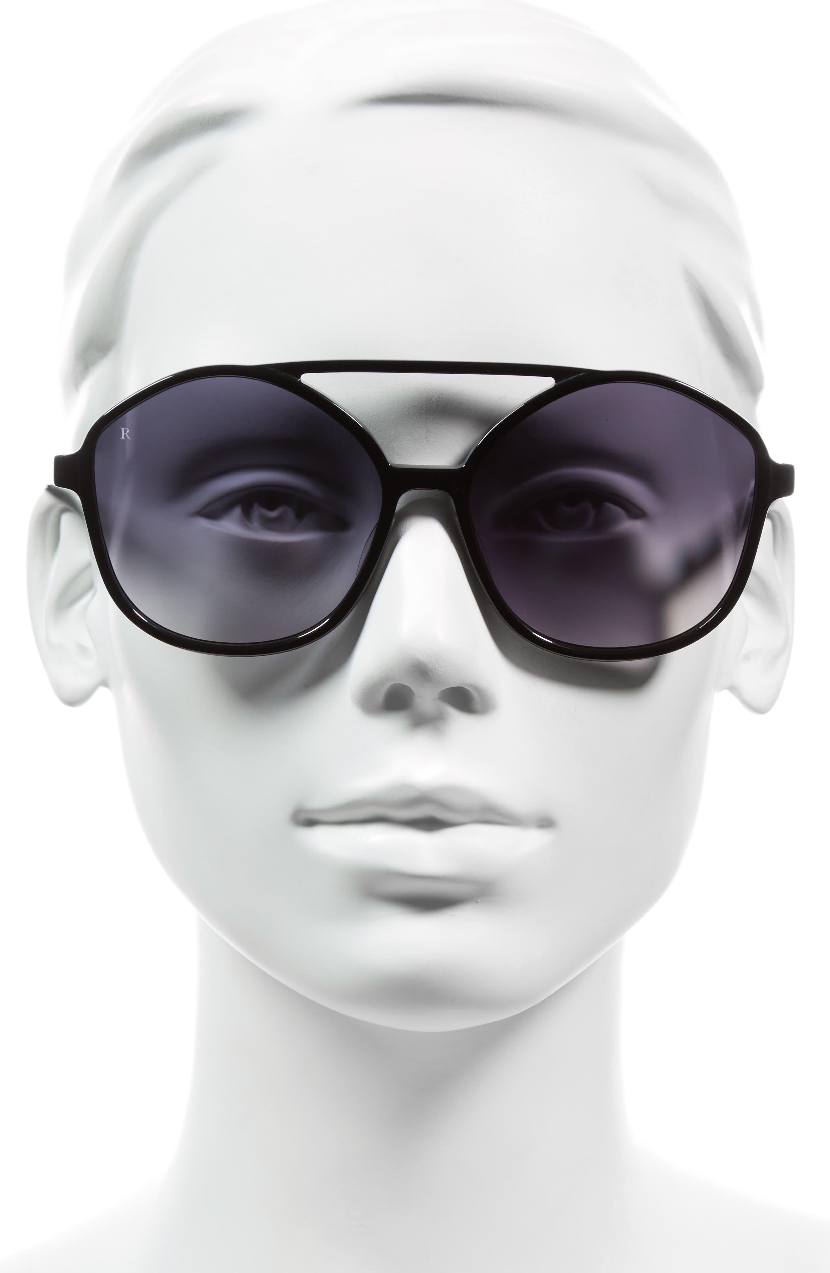 Torrey 58mm Aviator Sunglasses,                             Alternate thumbnail 2, color,                             001