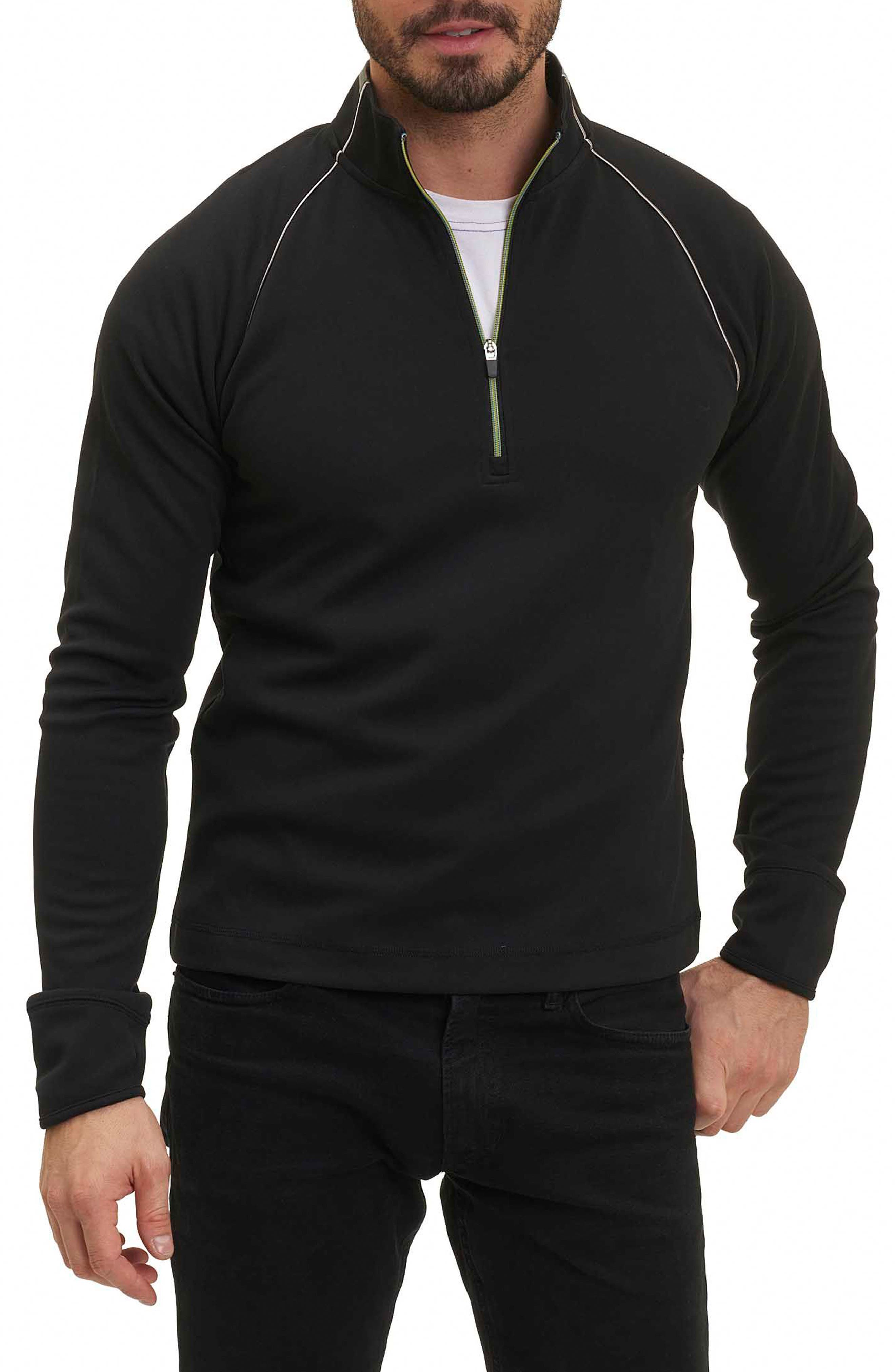 Taylore Quarter Zip Pullover,                             Main thumbnail 1, color,                             001
