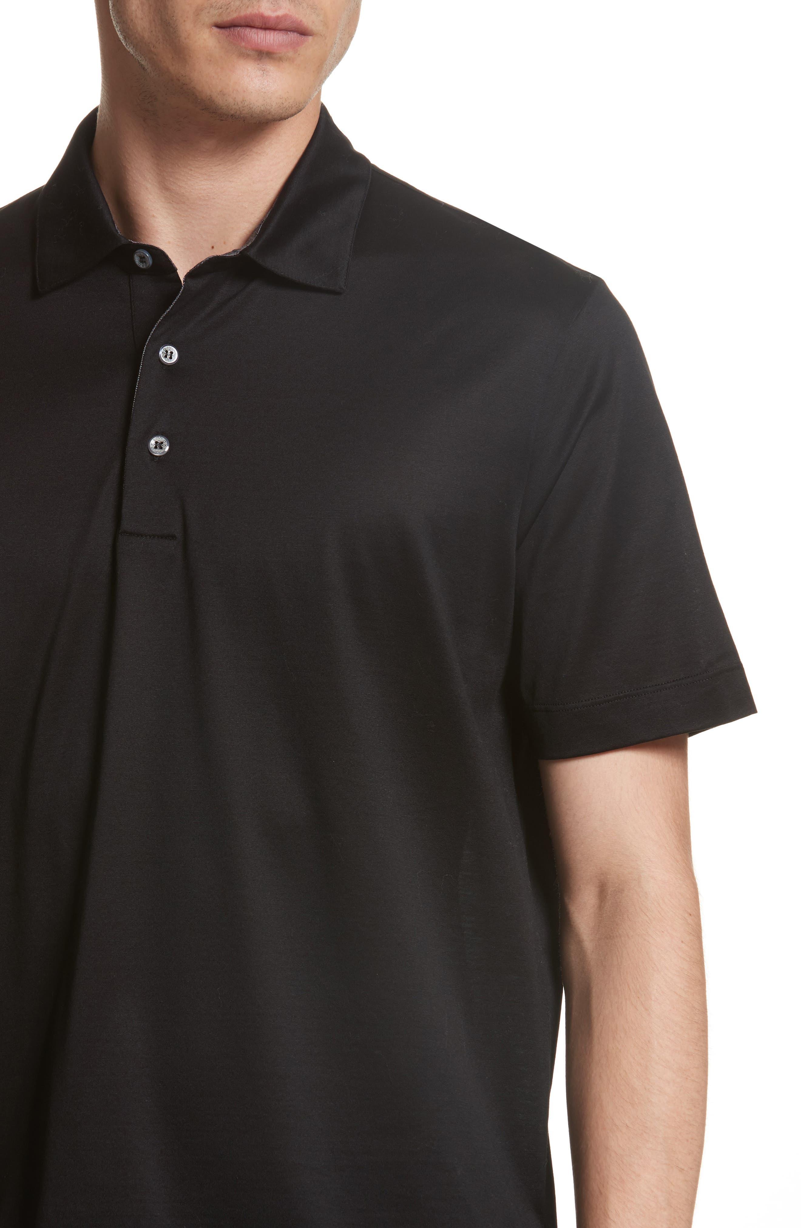 Mercerized Cotton Polo,                             Alternate thumbnail 4, color,