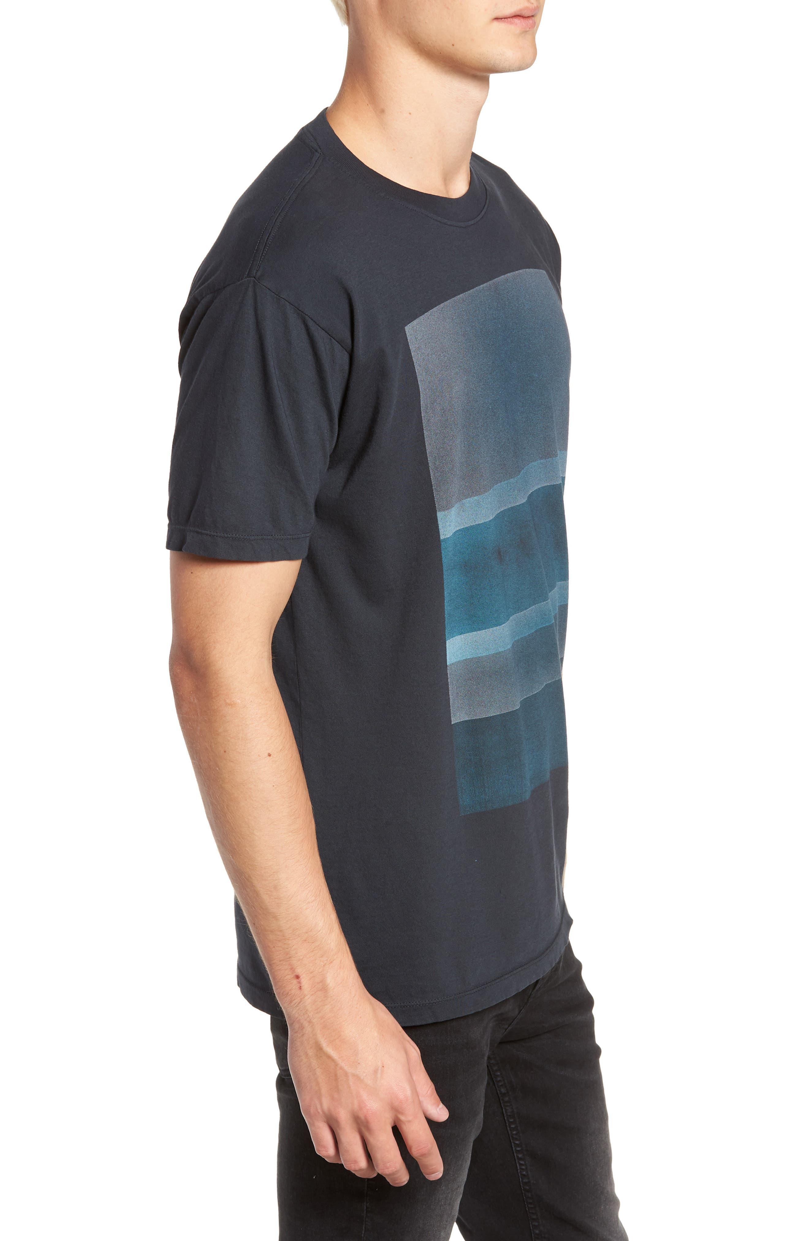 Motion Graphic T-Shirt,                             Alternate thumbnail 3, color,                             BLACK