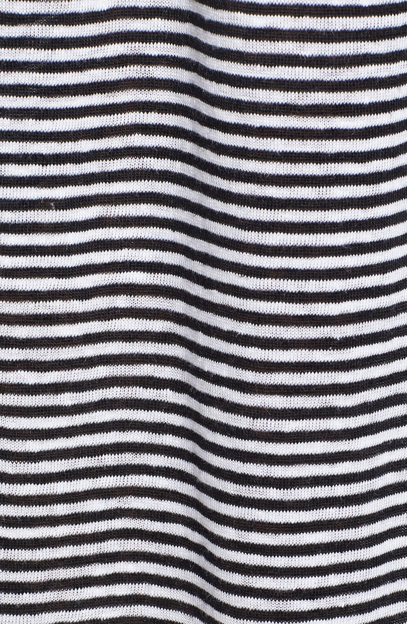 Flared Stripe Organic Linen Skirt,                             Alternate thumbnail 9, color,