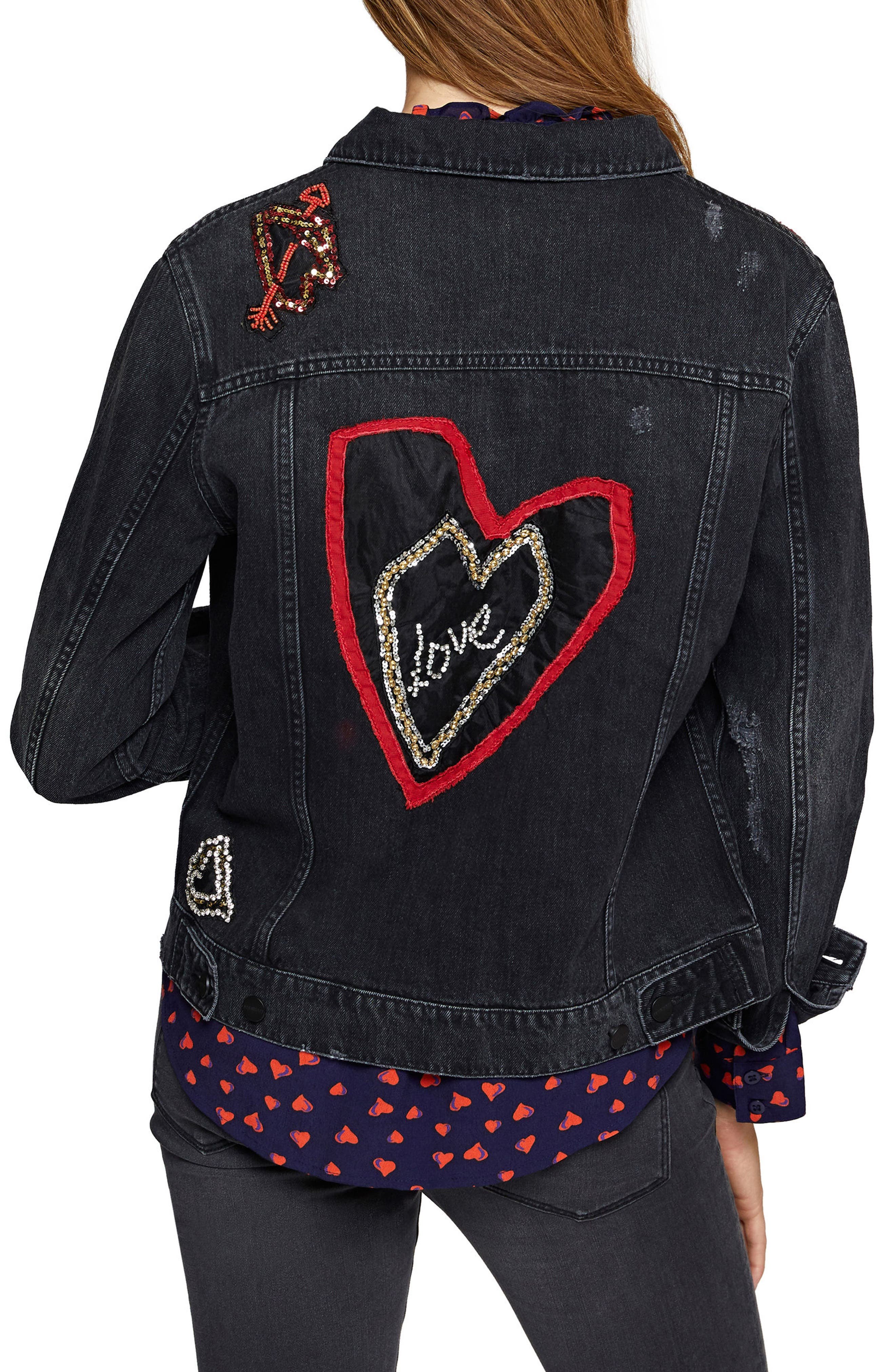 Heartbreaker Denim Jacket,                             Alternate thumbnail 2, color,                             010