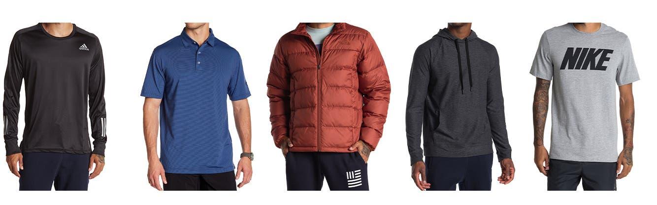 Men's activewear.