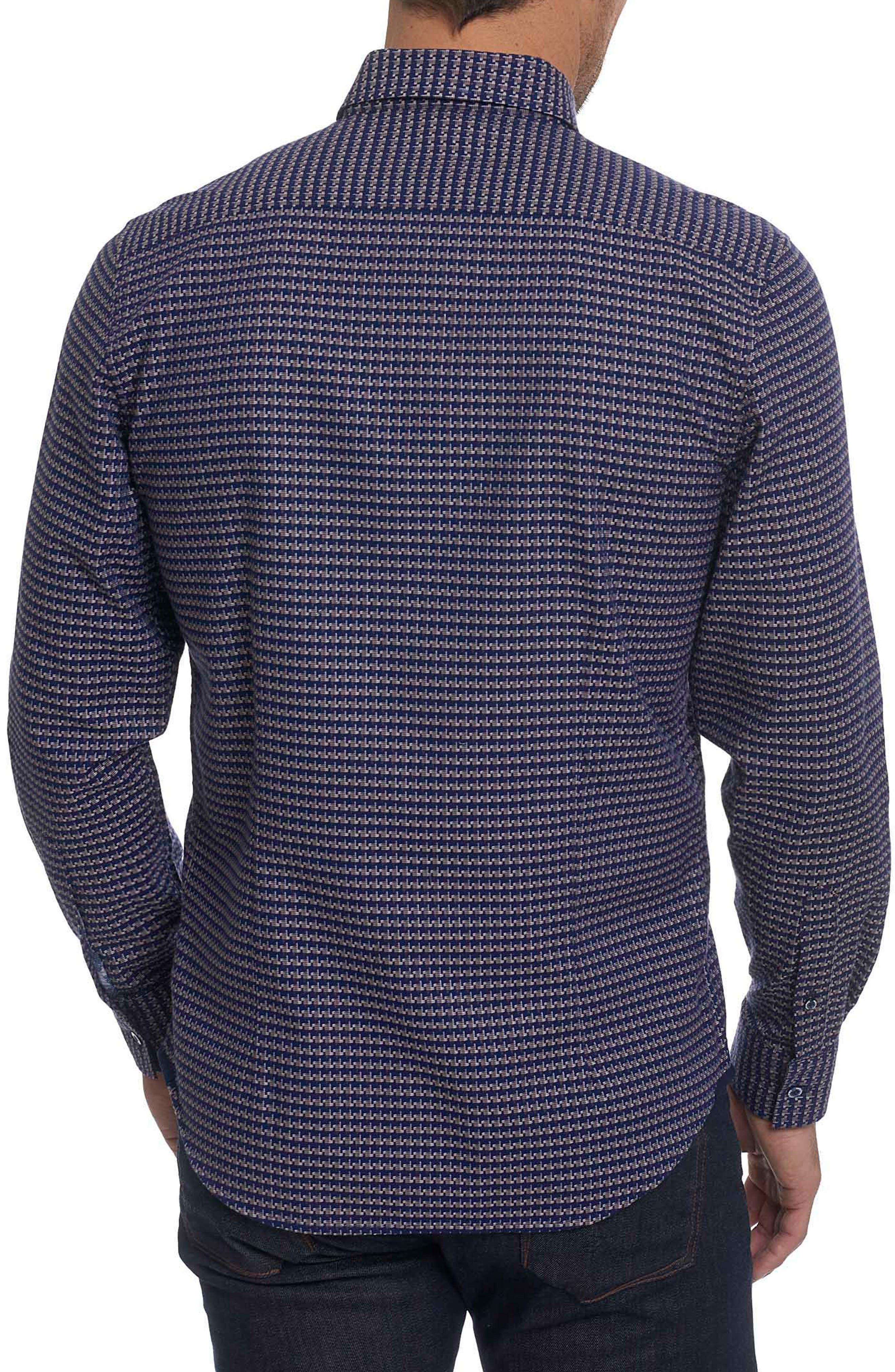 Landen Tailored Fit Print Sport Shirt,                             Alternate thumbnail 6, color,