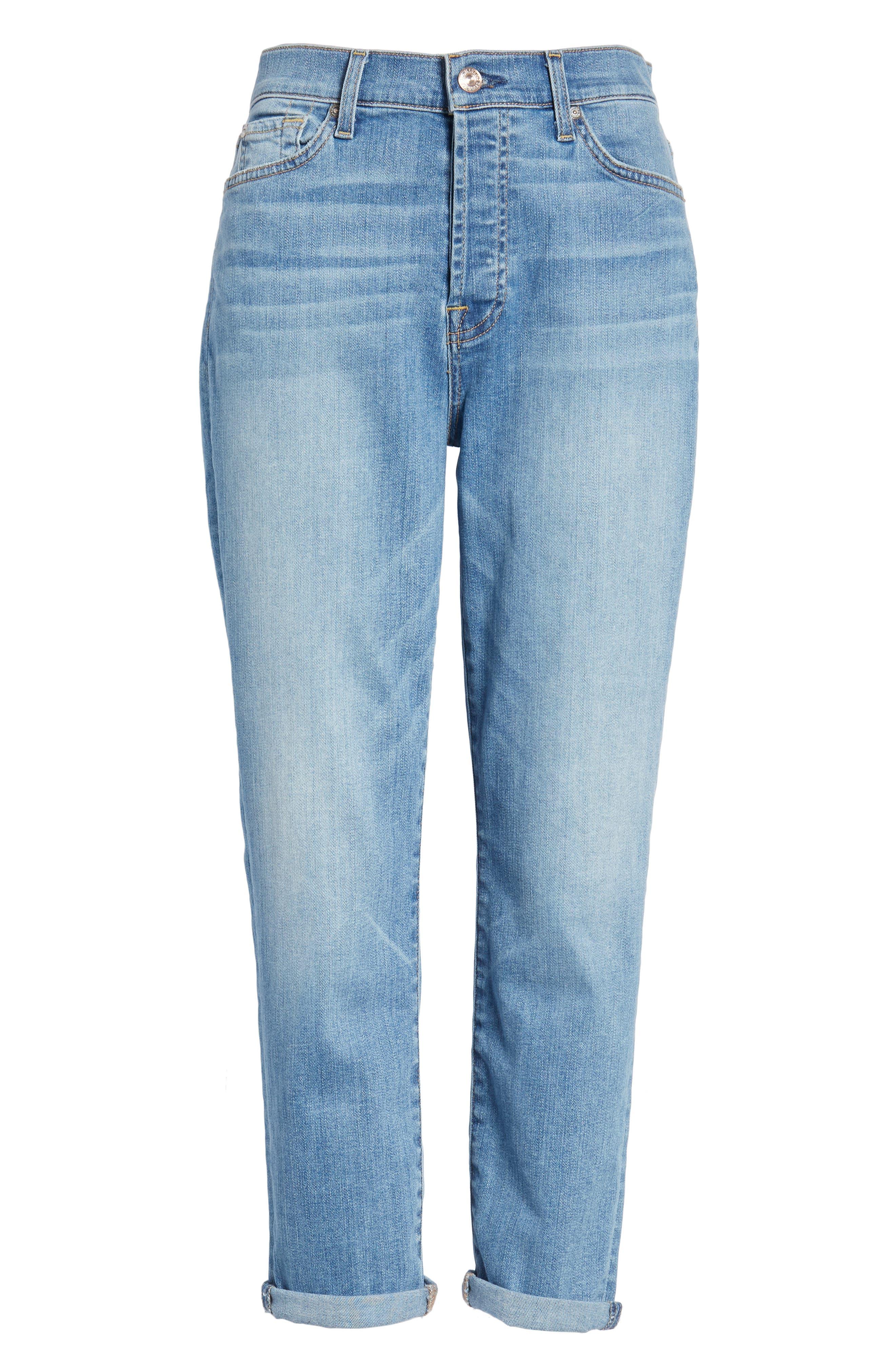 Josefina High Waist Boyfriend Jeans,                             Alternate thumbnail 7, color,