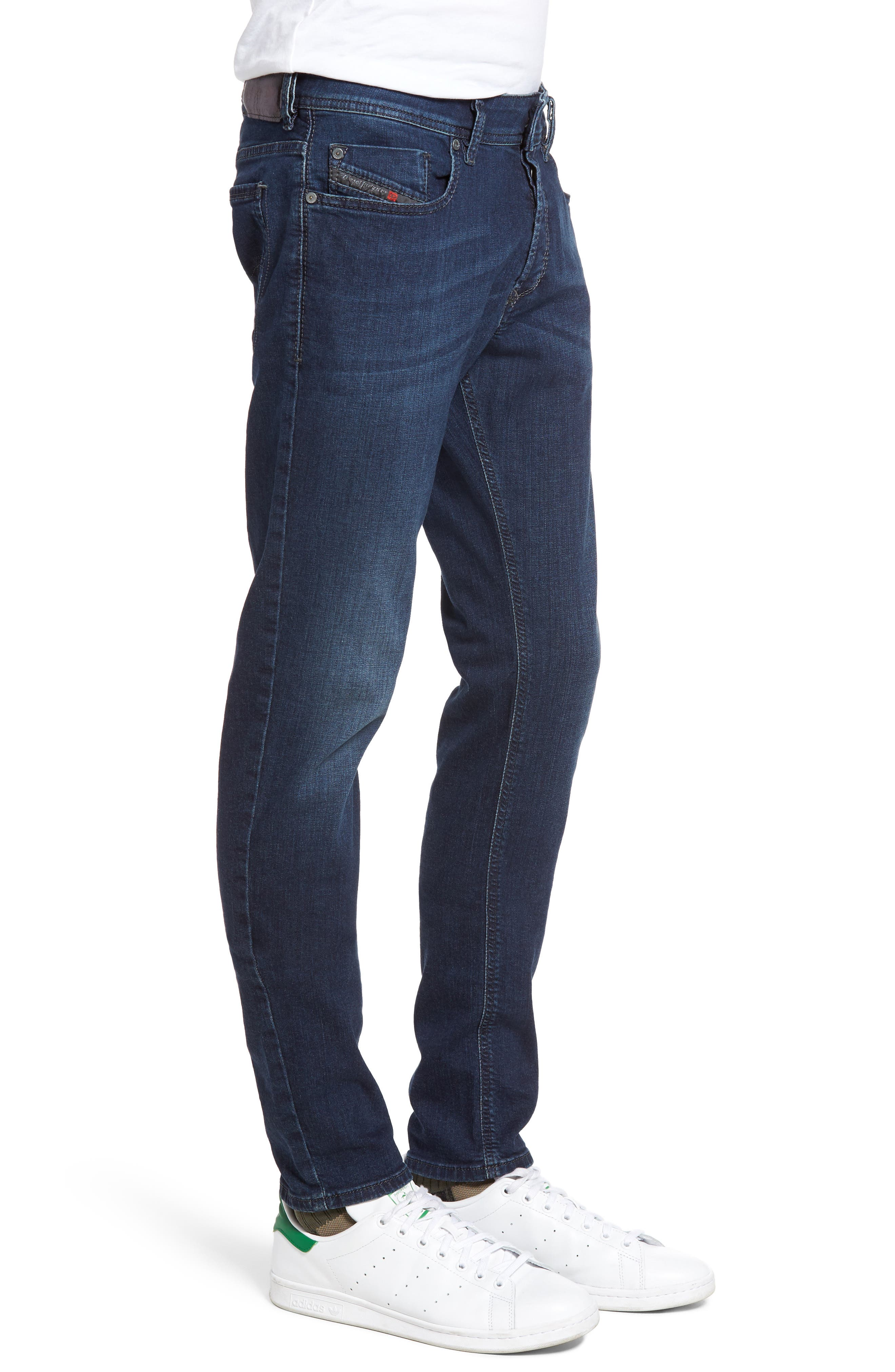 Sleenker Skinny Fit Jeans,                             Alternate thumbnail 3, color,                             400