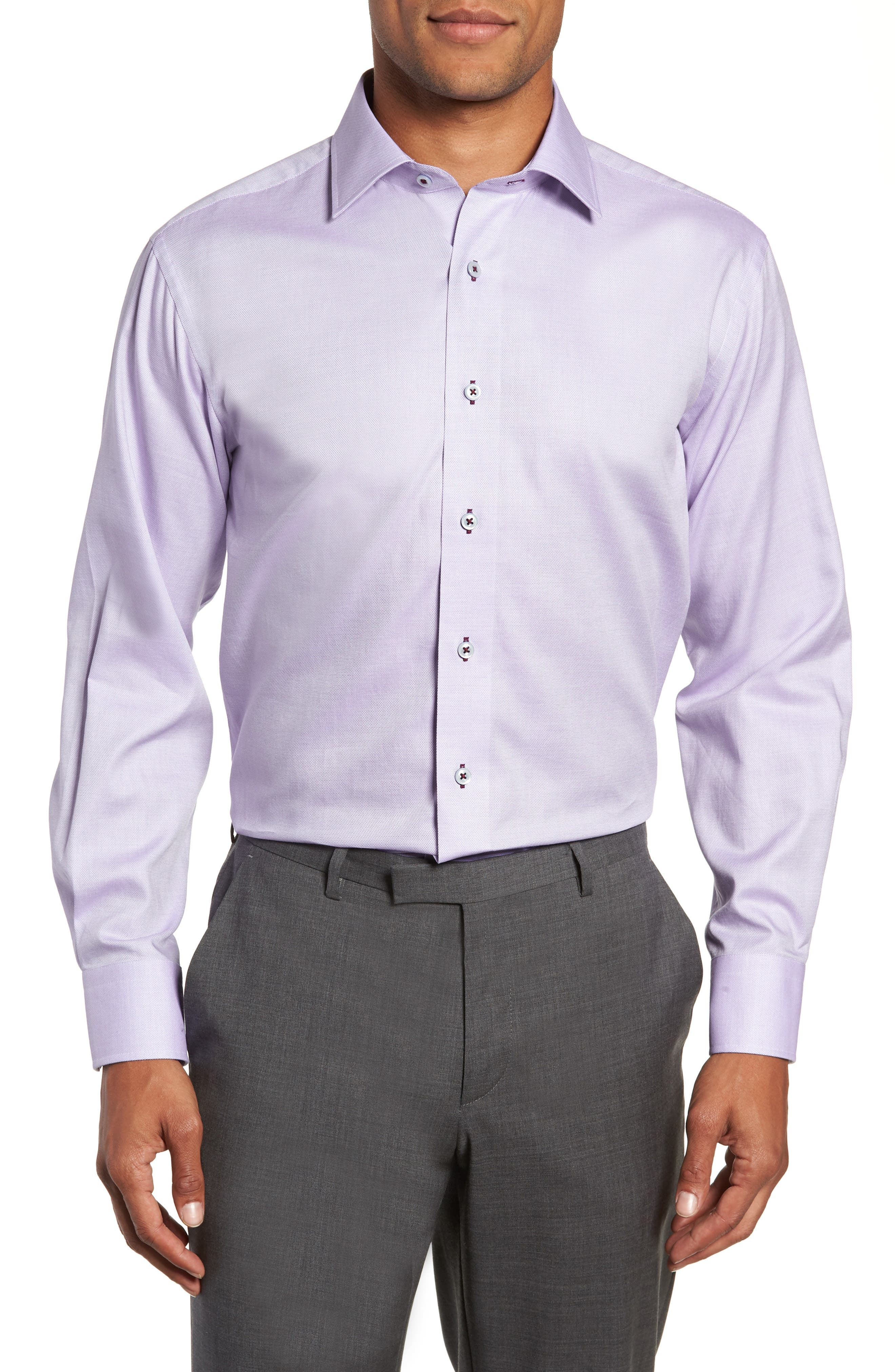 Trim Fit Solid Dress Shirt,                             Main thumbnail 1, color,                             530