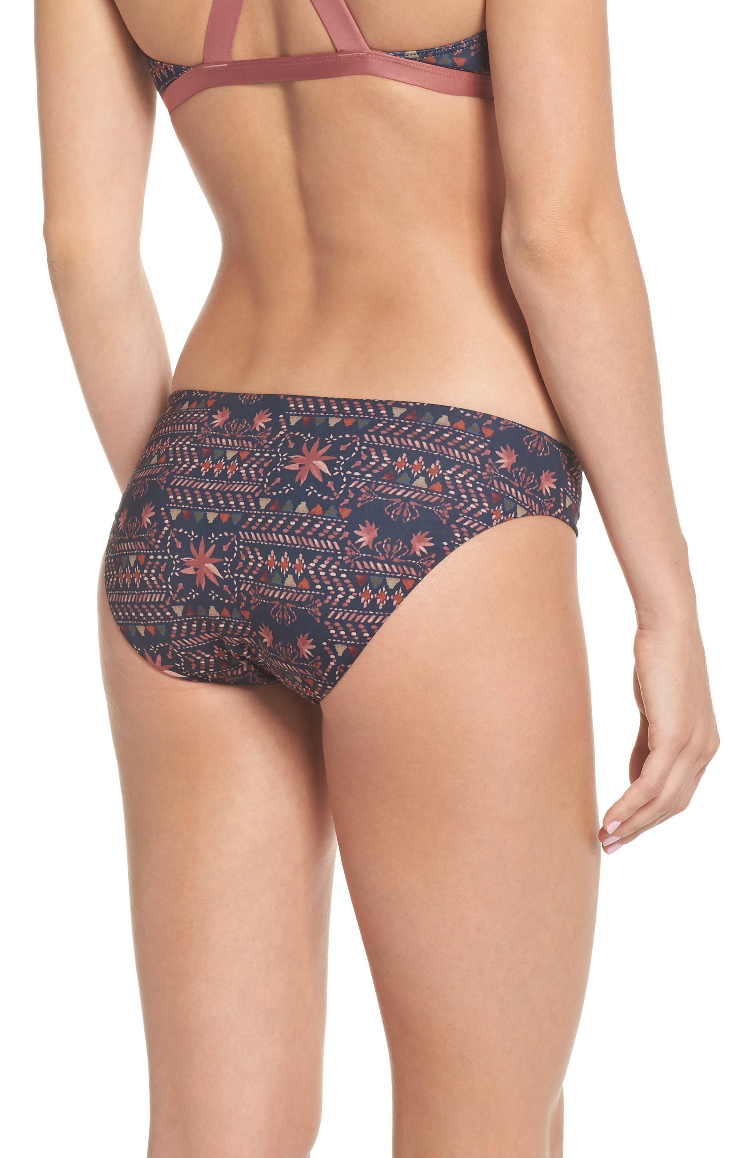 Sunamee Bikini Bottoms,                             Alternate thumbnail 2, color,                             FIRESIDE: NAVY BLUE