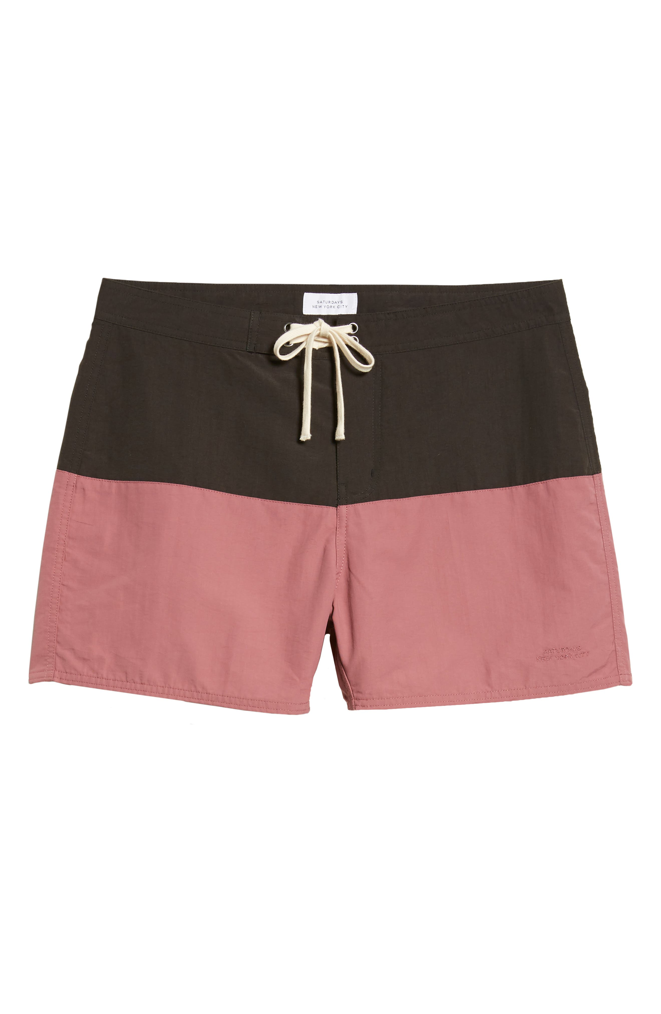 Ennis Colorblock Swim Trunks,                             Alternate thumbnail 6, color,                             001