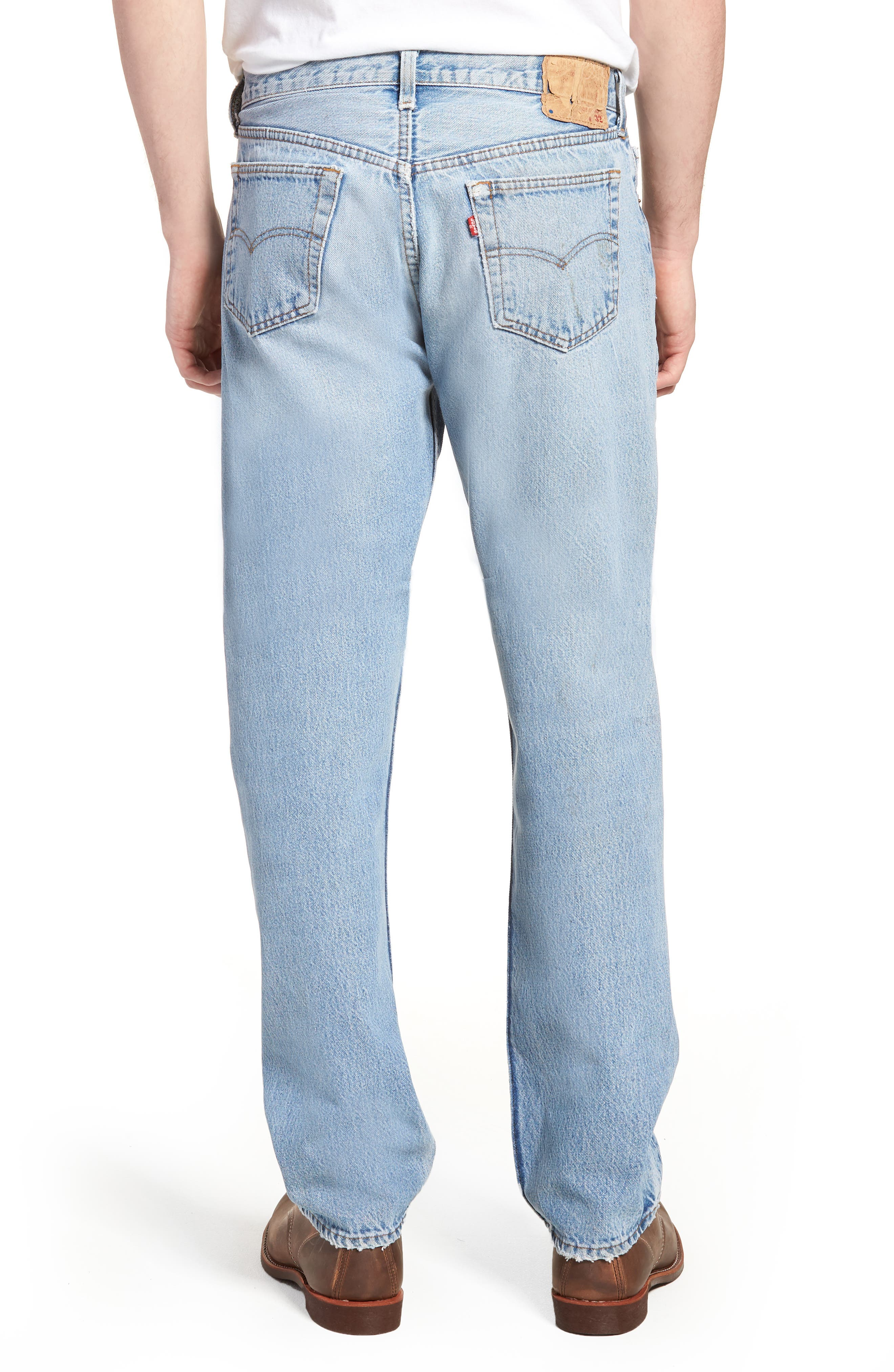 Authorized Vintage 501<sup>™</sup> Straight Leg Jeans,                             Alternate thumbnail 2, color,                             AV BLUE