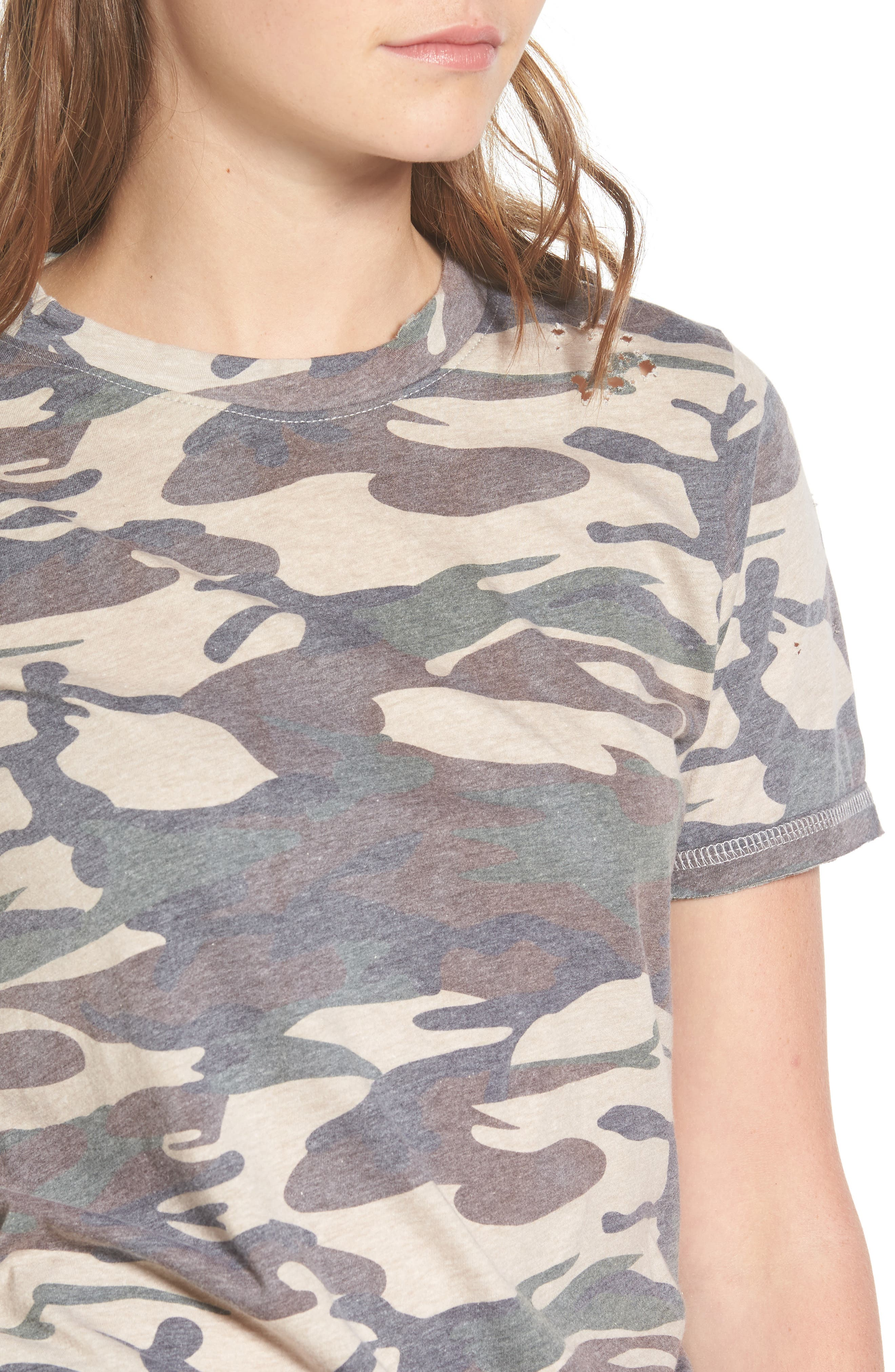 Distressed Camo Tee,                             Alternate thumbnail 4, color,                             300