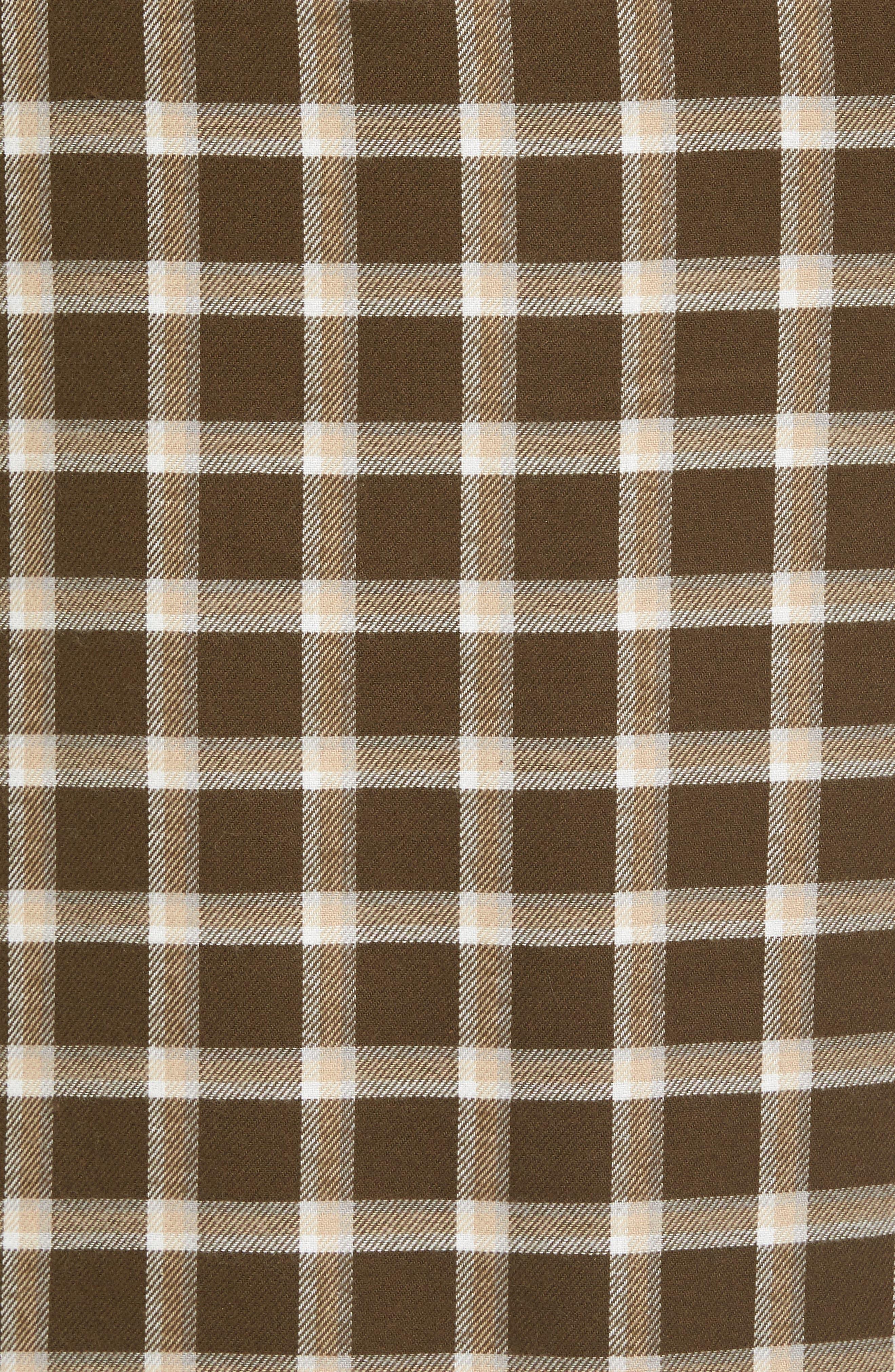 Kalib Plaid Flannel Robe,                             Alternate thumbnail 13, color,
