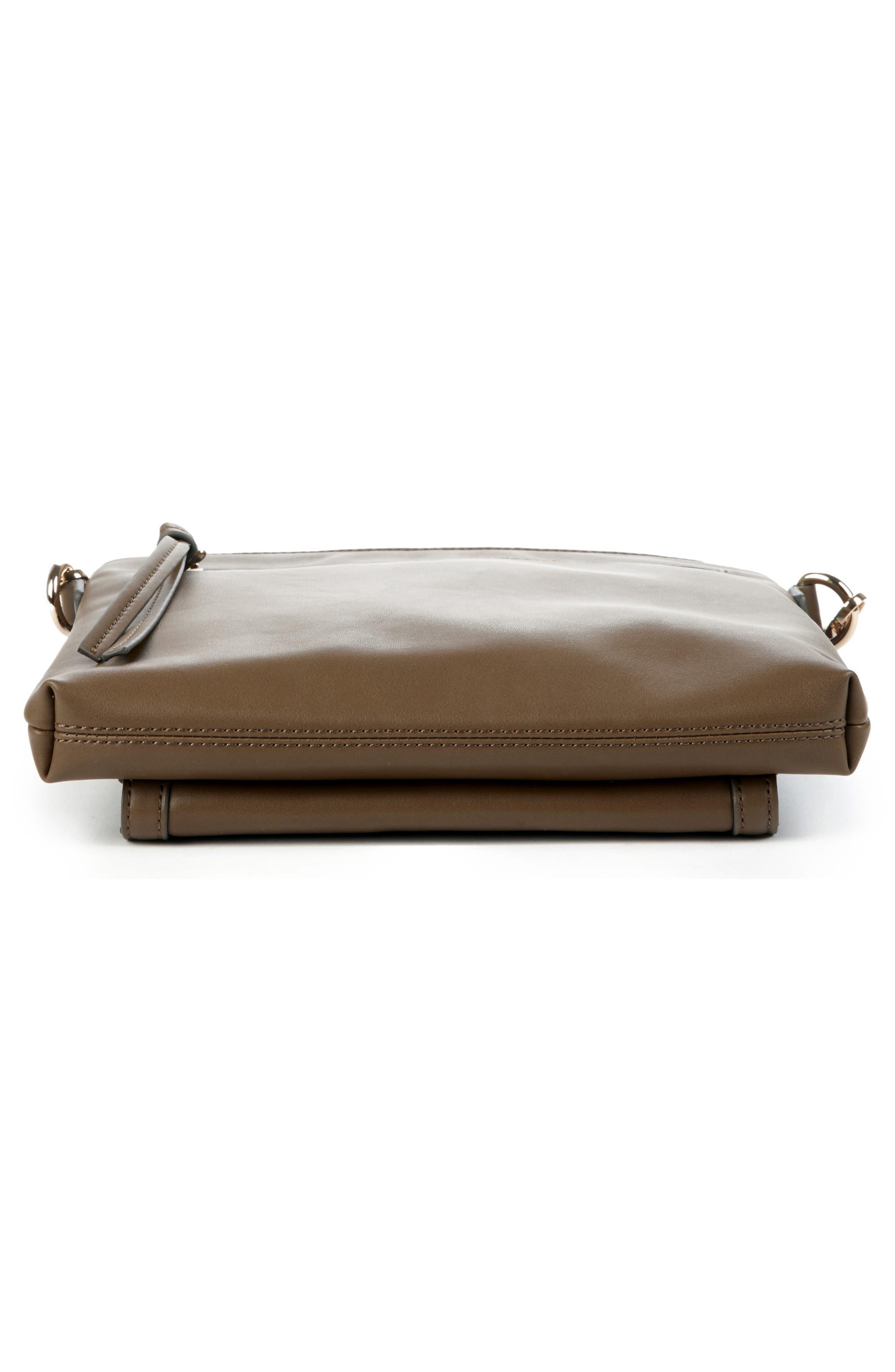 Flat Faux Leather Crossbody Bag,                             Alternate thumbnail 17, color,