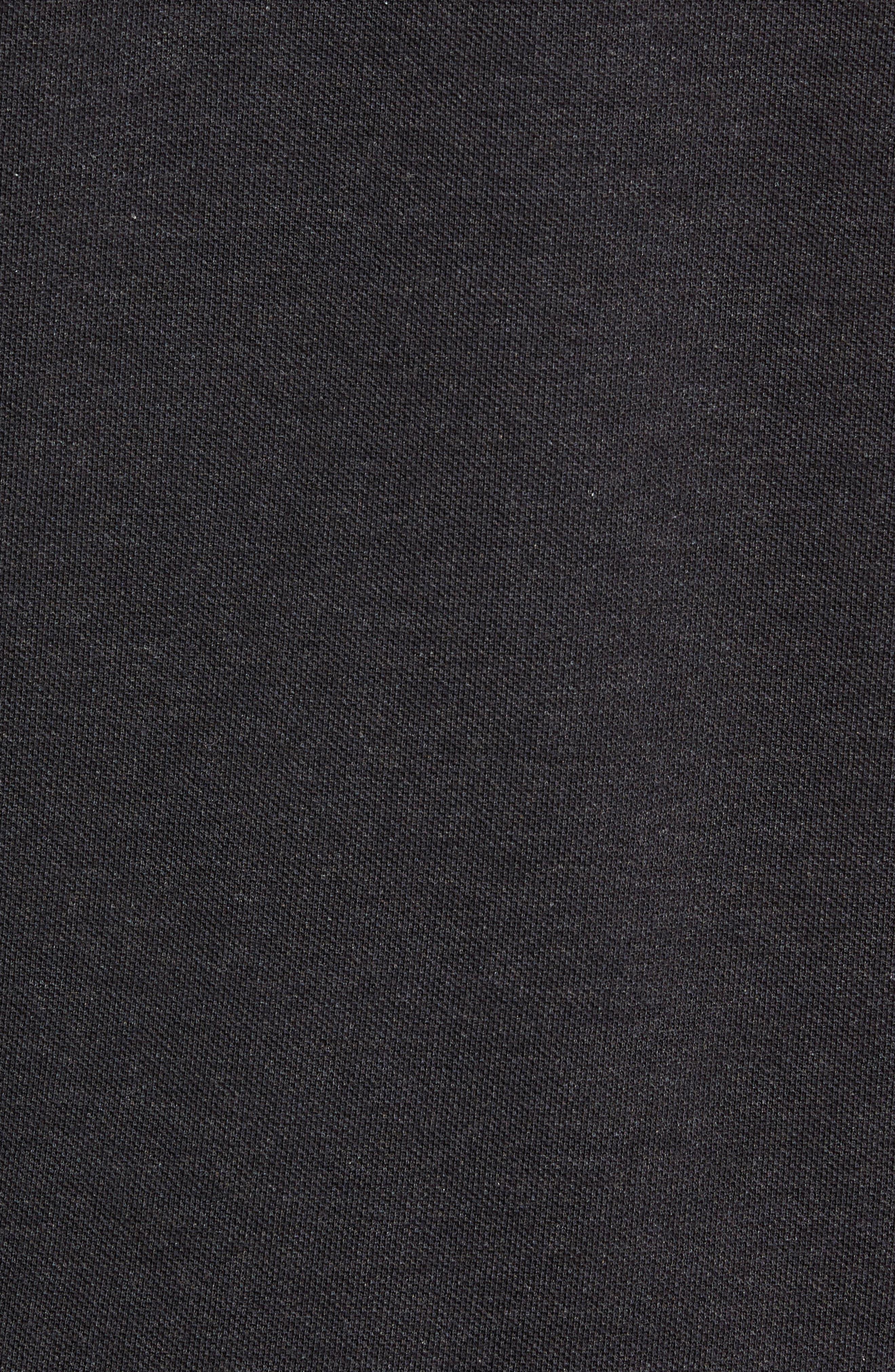 Long Sleeve Piqué Polo,                             Alternate thumbnail 5, color,                             LIGHTNING CHINE