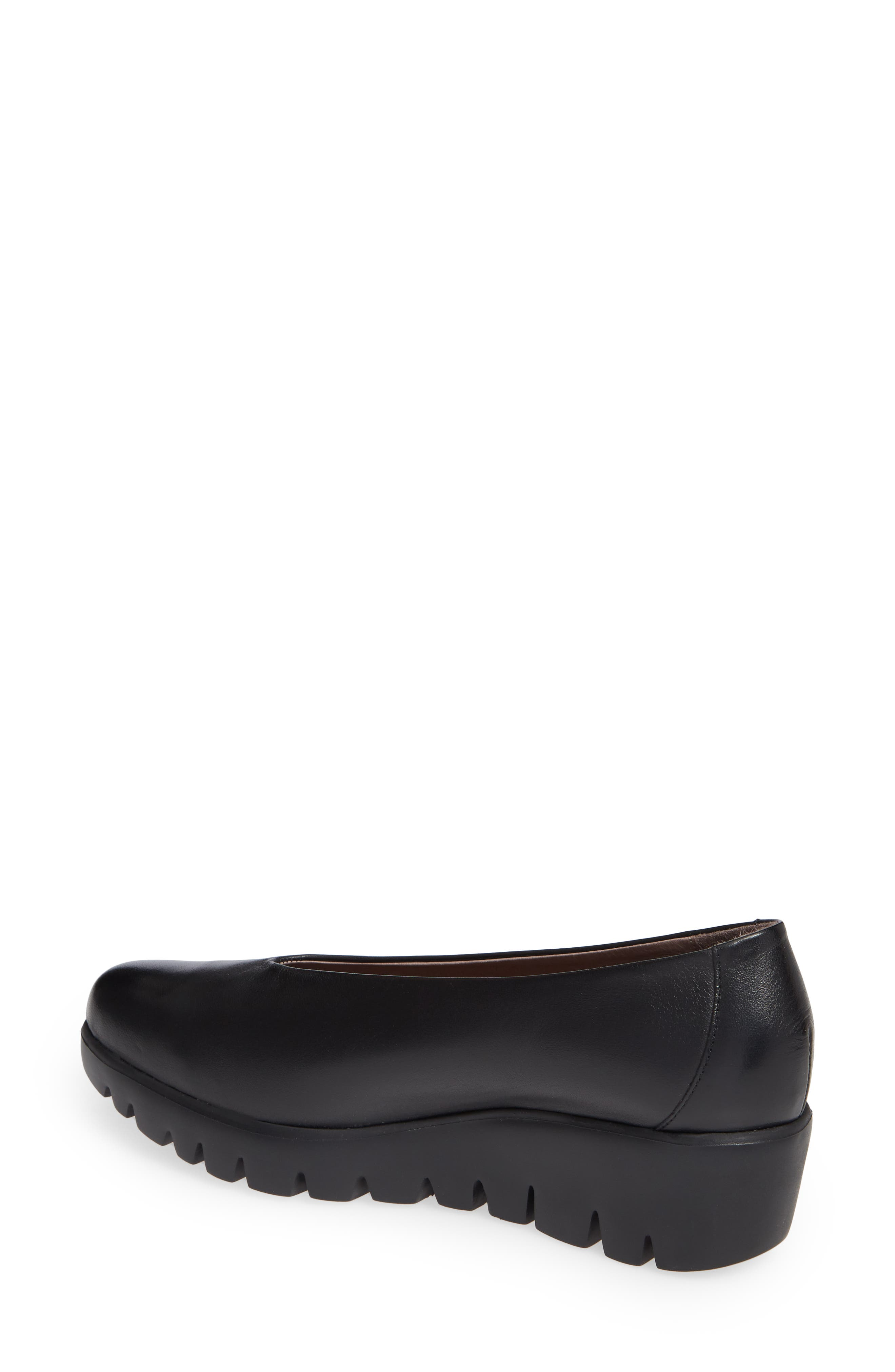 Extralite Wedge Pump,                             Alternate thumbnail 2, color,                             BLACK LEATHER
