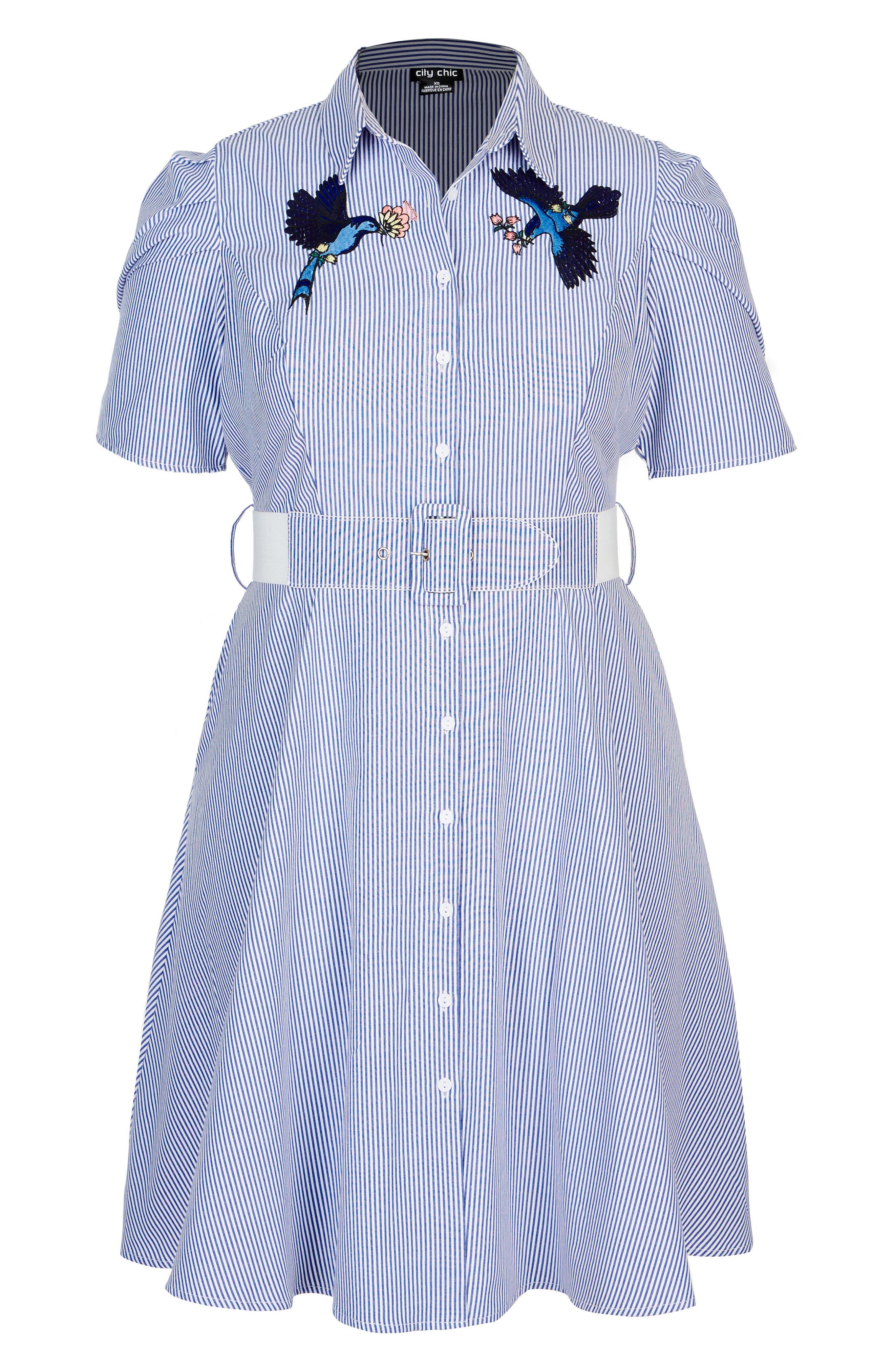Stripe Essence Shirtdress,                             Alternate thumbnail 3, color,                             400