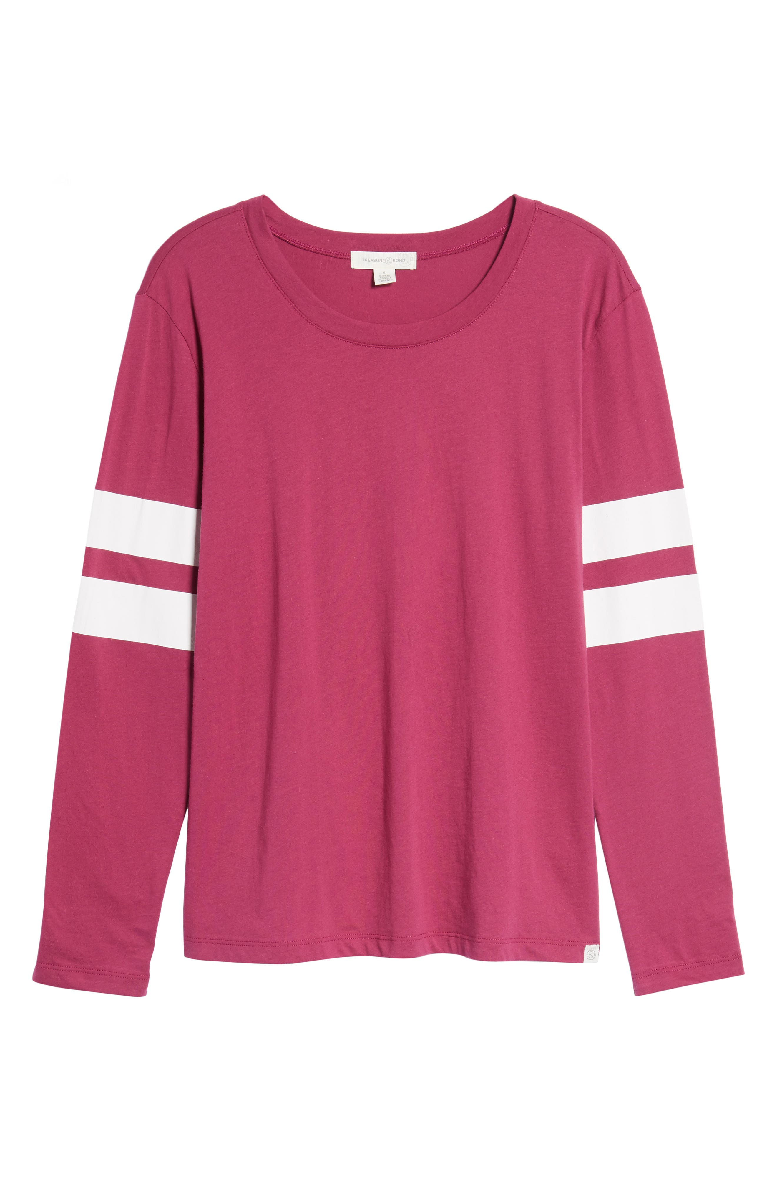 Varsity Stripe Cotton Tee,                             Alternate thumbnail 118, color,