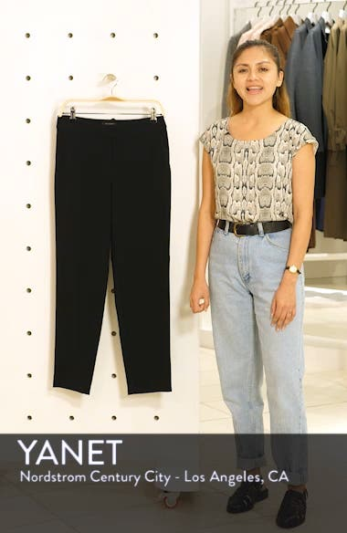 'Emma' Crop Crepe Marocain Pants, sales video thumbnail