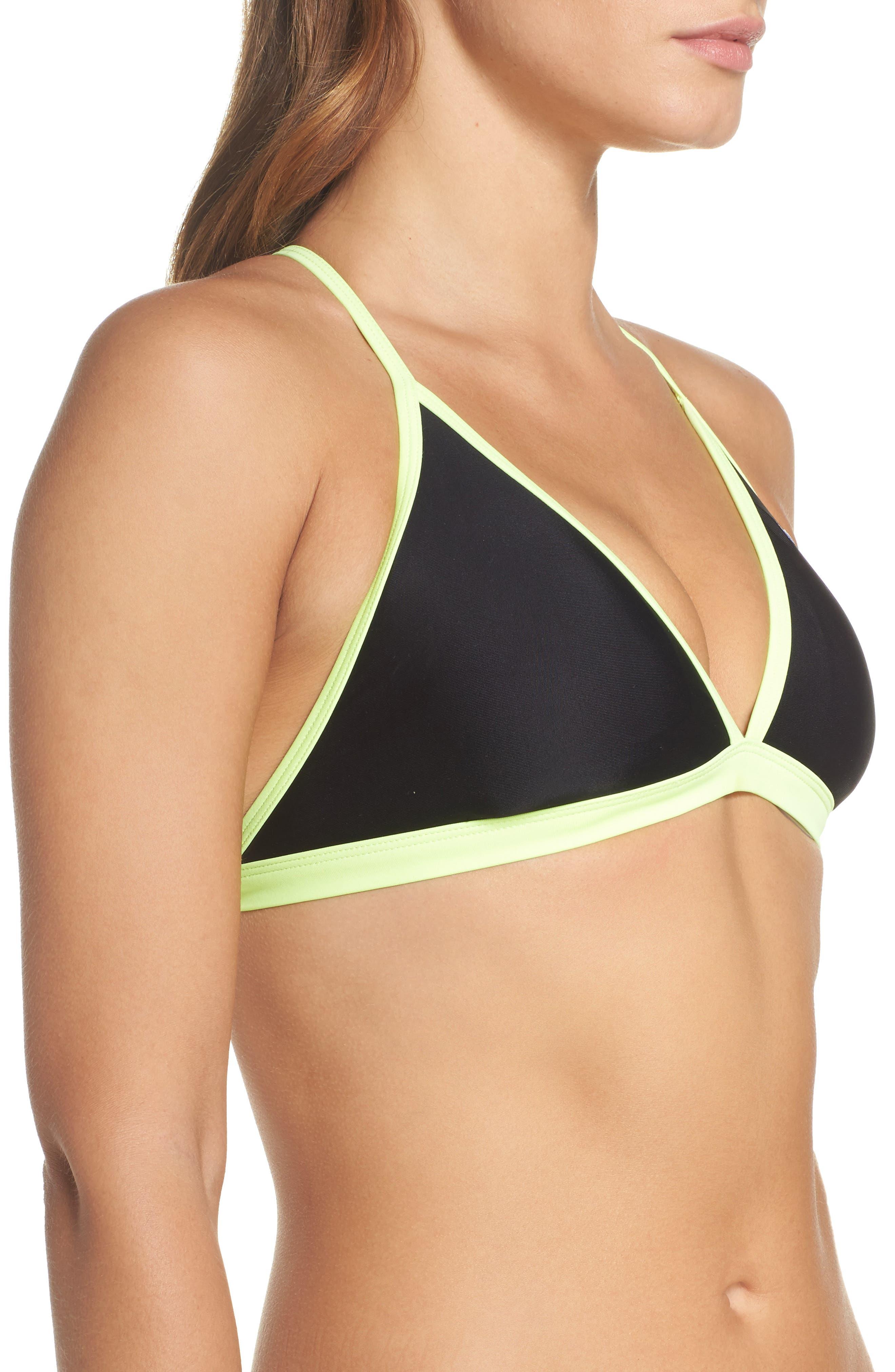 Triangle Bikini Top,                             Alternate thumbnail 3, color,                             001