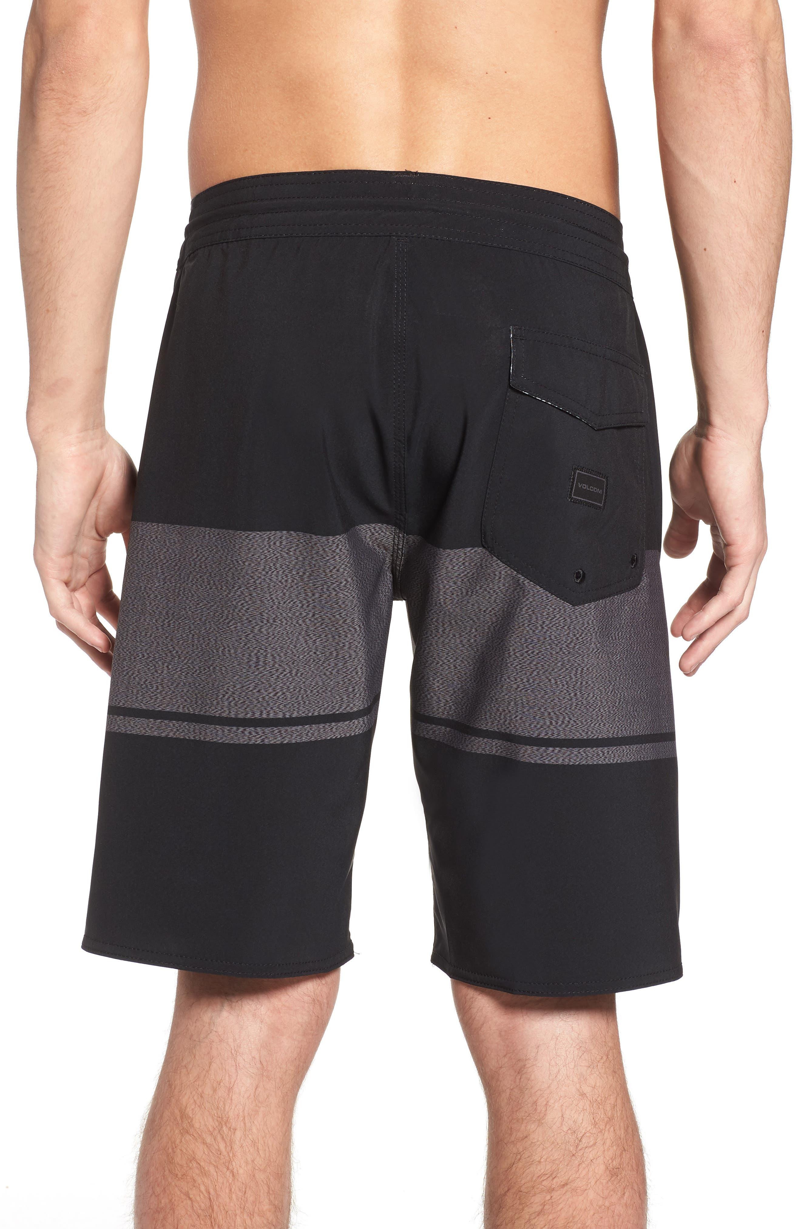 Quarter Static Stoney Board Shorts,                             Alternate thumbnail 2, color,                             BLACK