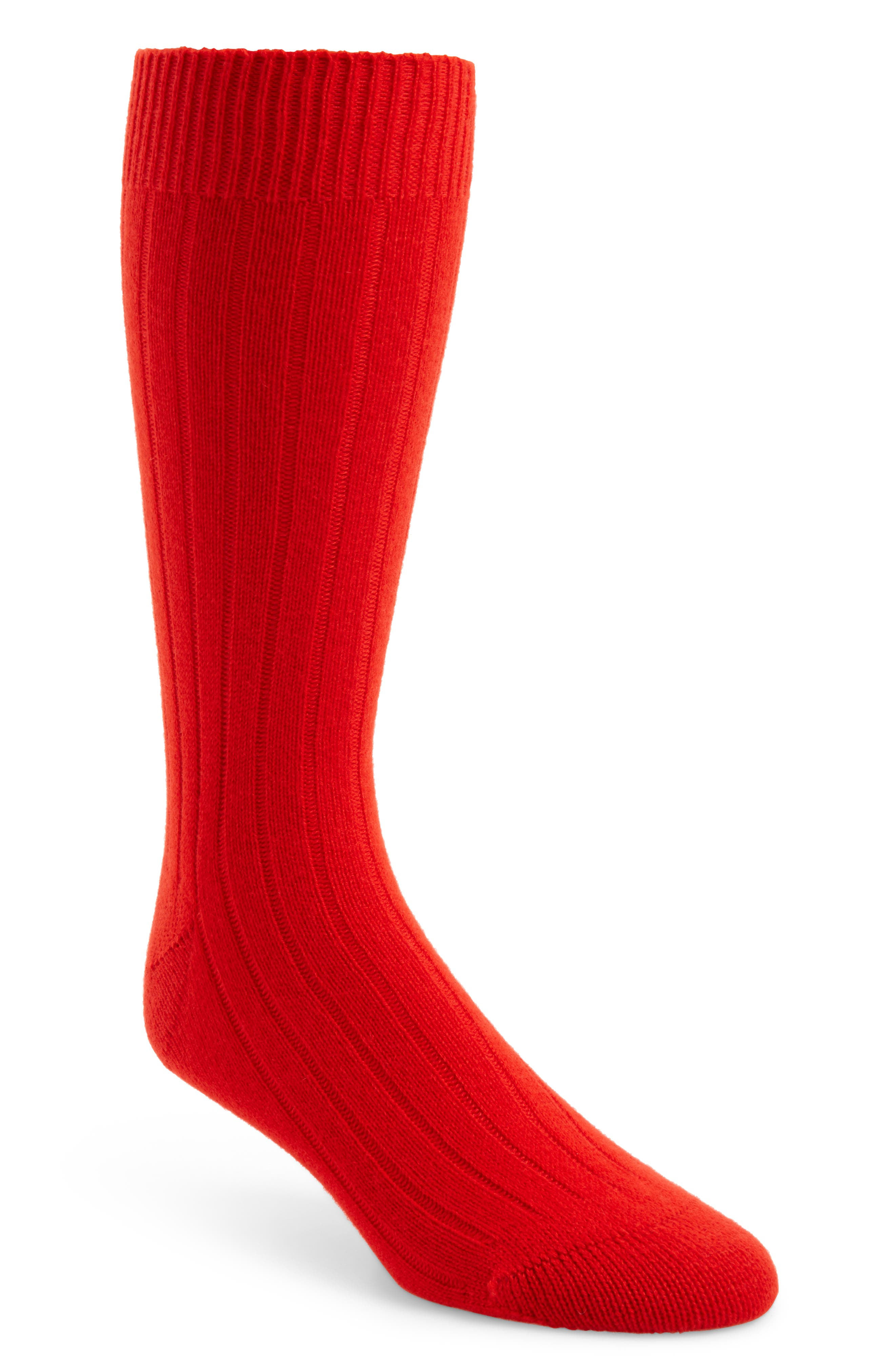 'Waddington' Cashmere Blend Mid Calf Socks,                             Main thumbnail 2, color,