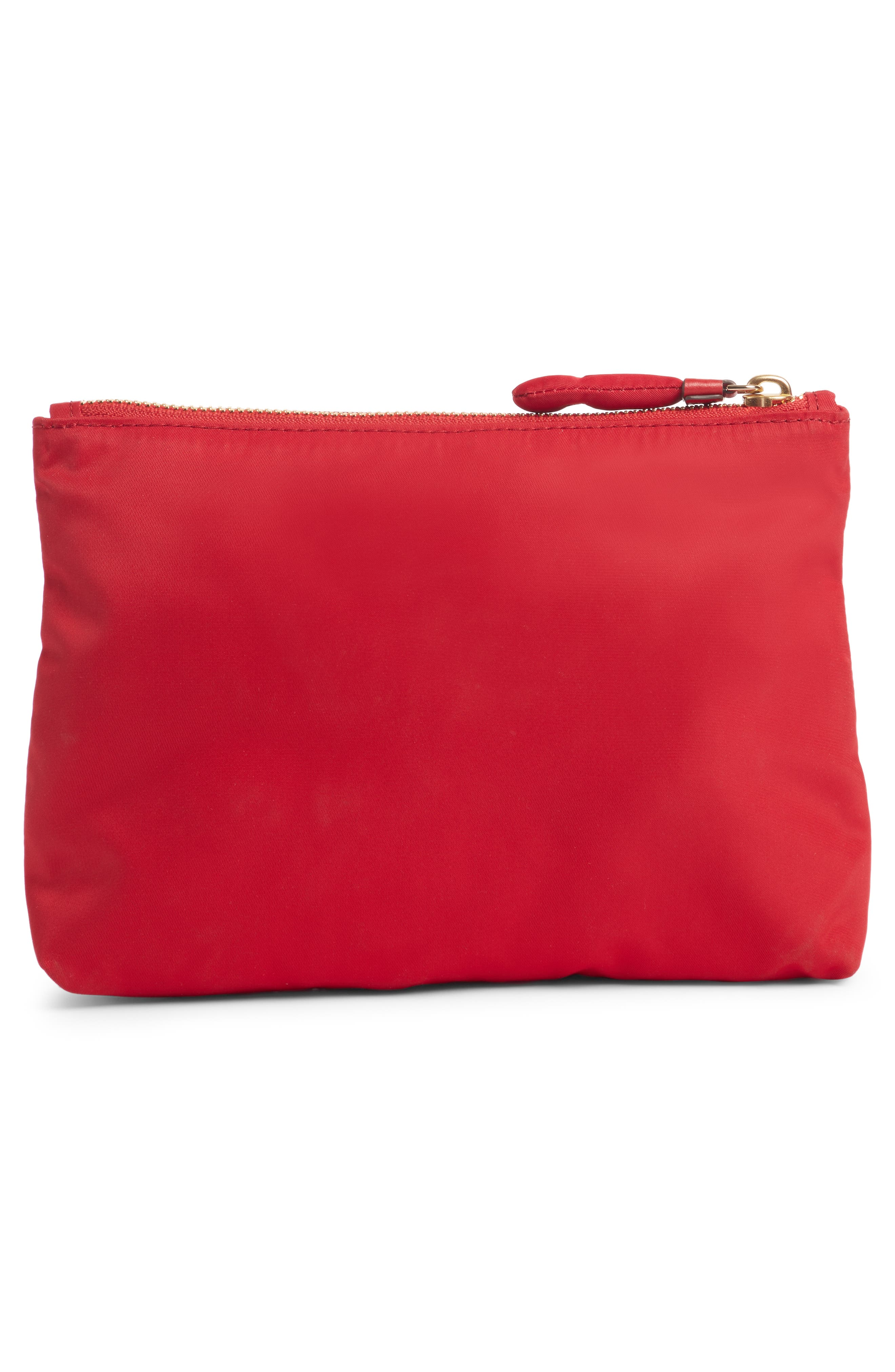 Chubby Heart Nylon Pouch,                             Alternate thumbnail 2, color,                             RED