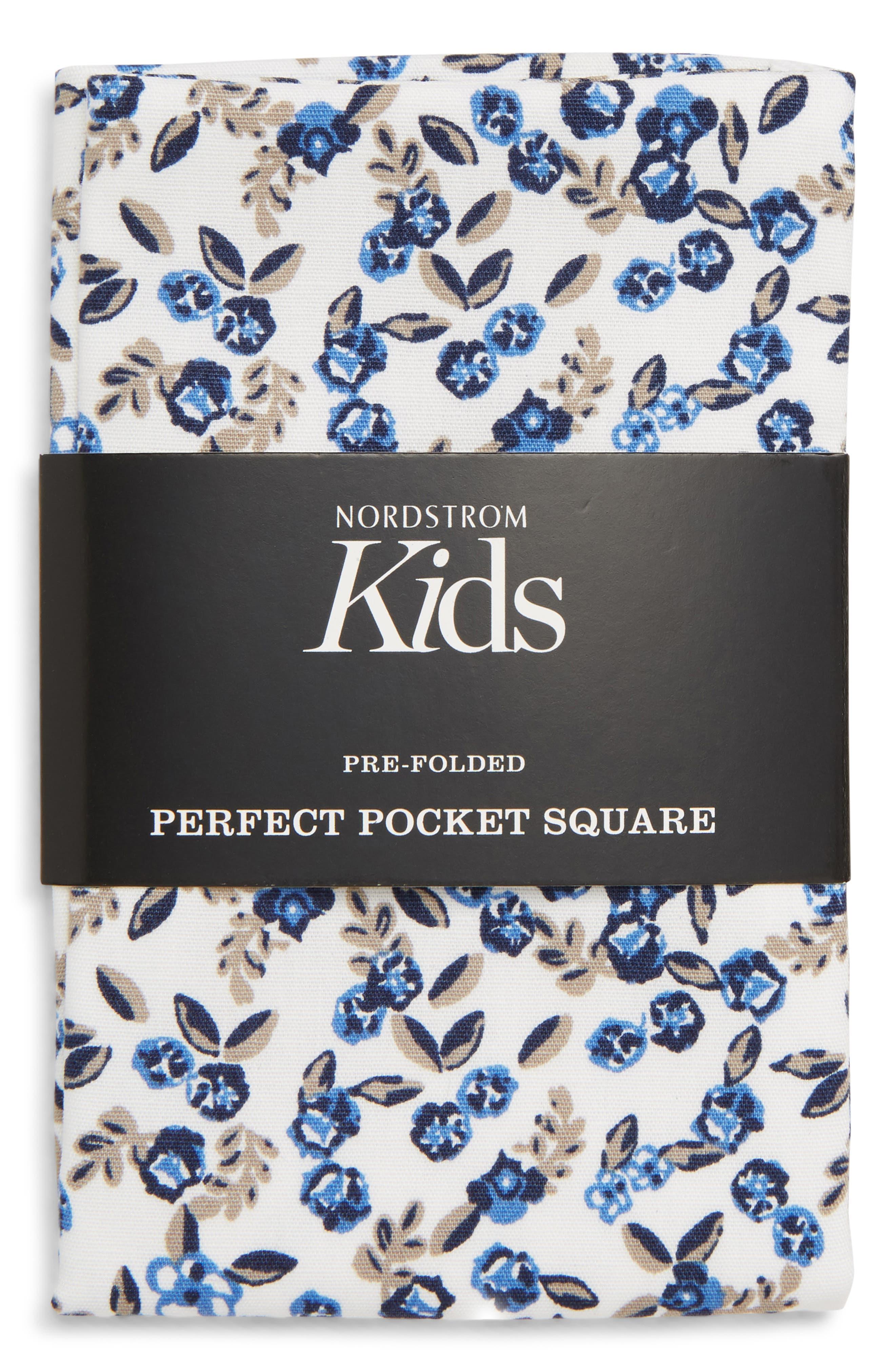 Floral Pocket Square,                             Main thumbnail 1, color,                             WHITE