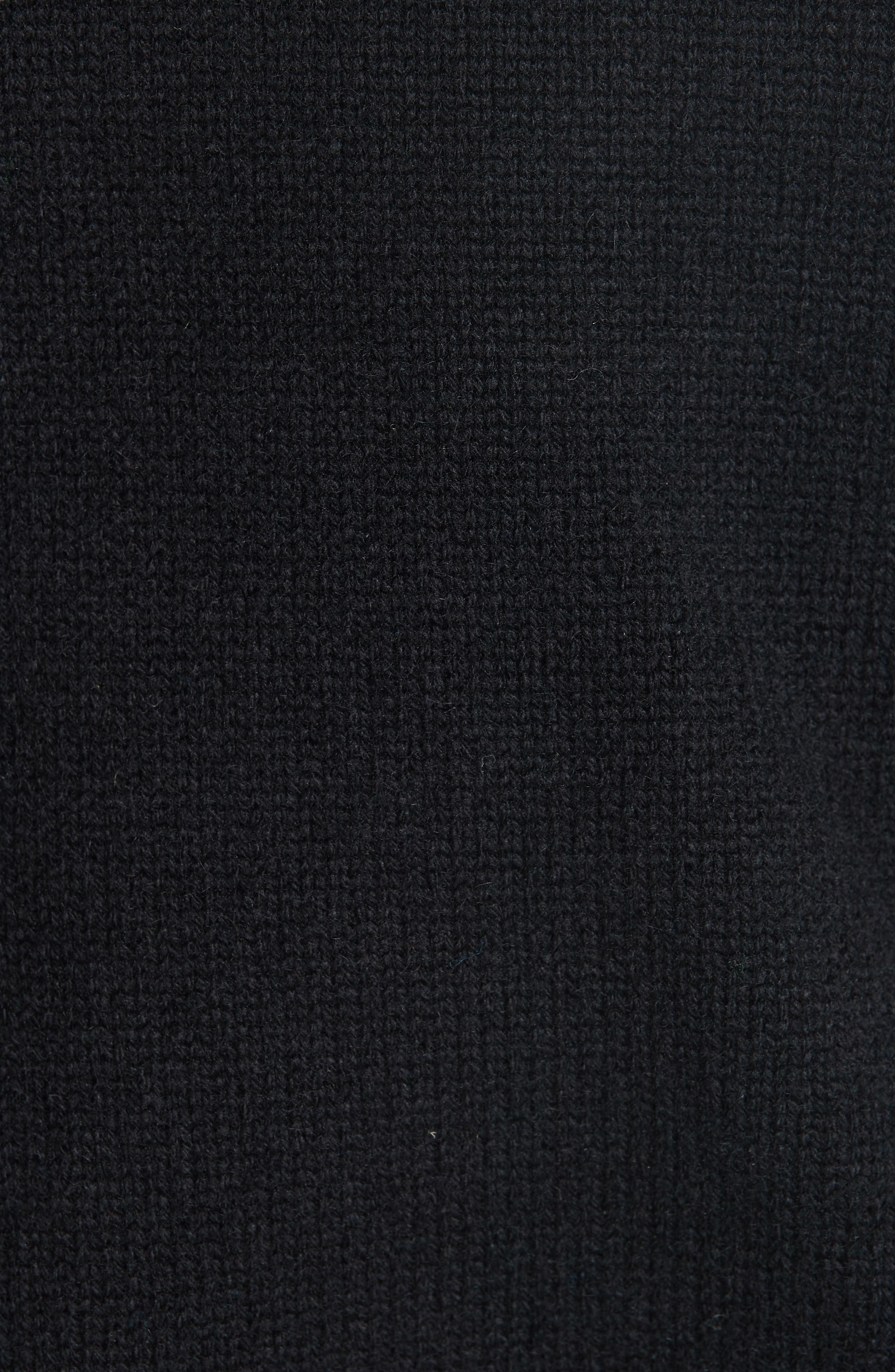 Cashmere Stripe Sleeve Sweater,                             Alternate thumbnail 5, color,                             001