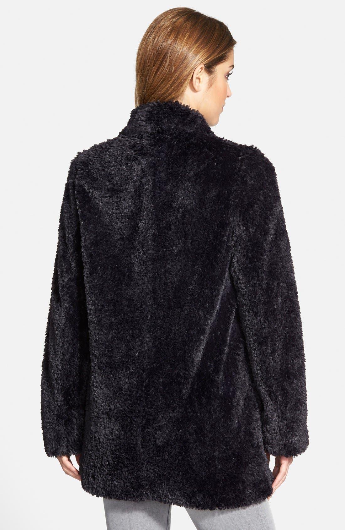 'Teddy Bear' Faux Fur Clutch Coat,                             Alternate thumbnail 6, color,