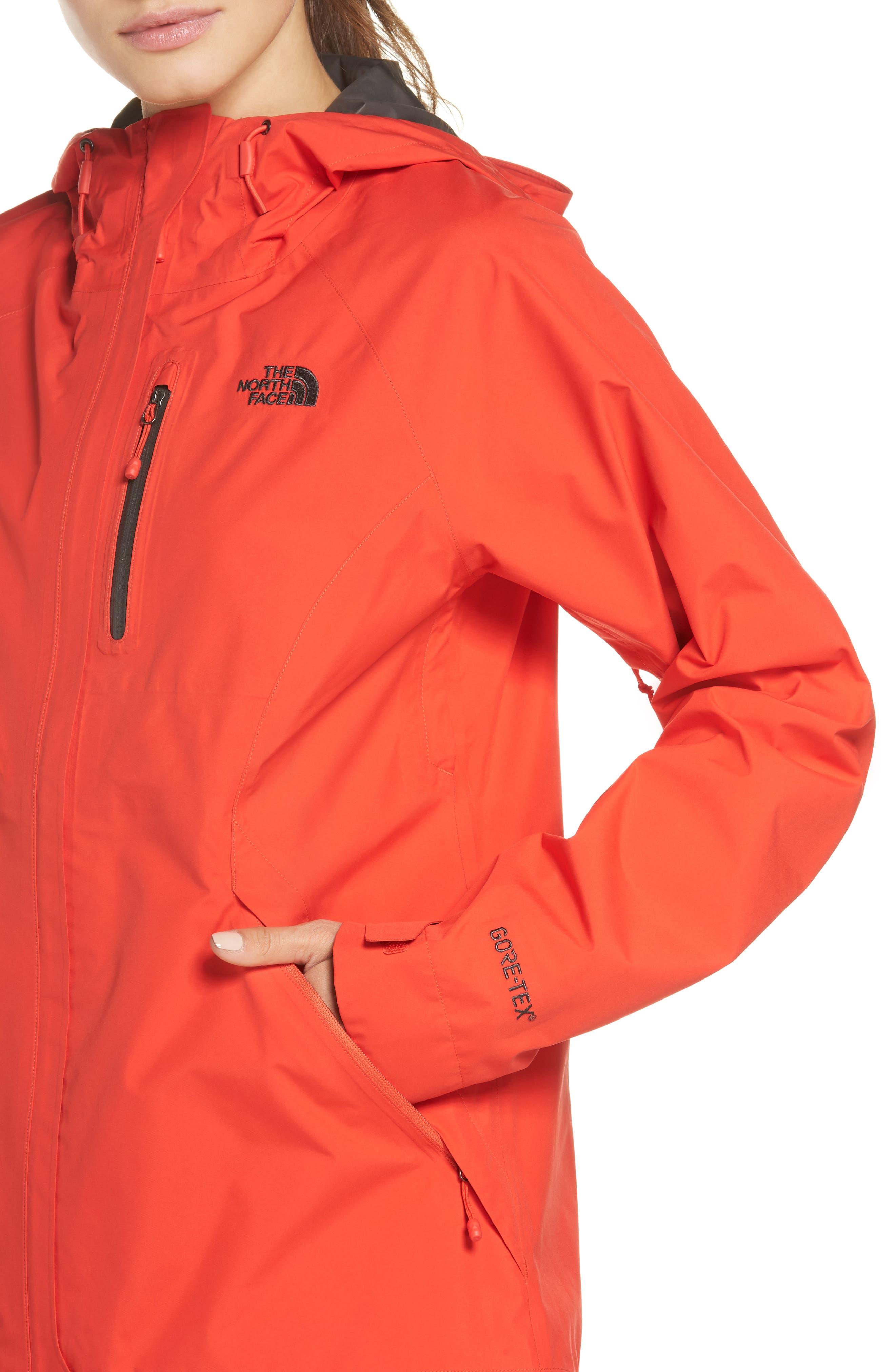 'Dryzzle' Hooded Jacket,                             Alternate thumbnail 4, color,                             JUICY RED