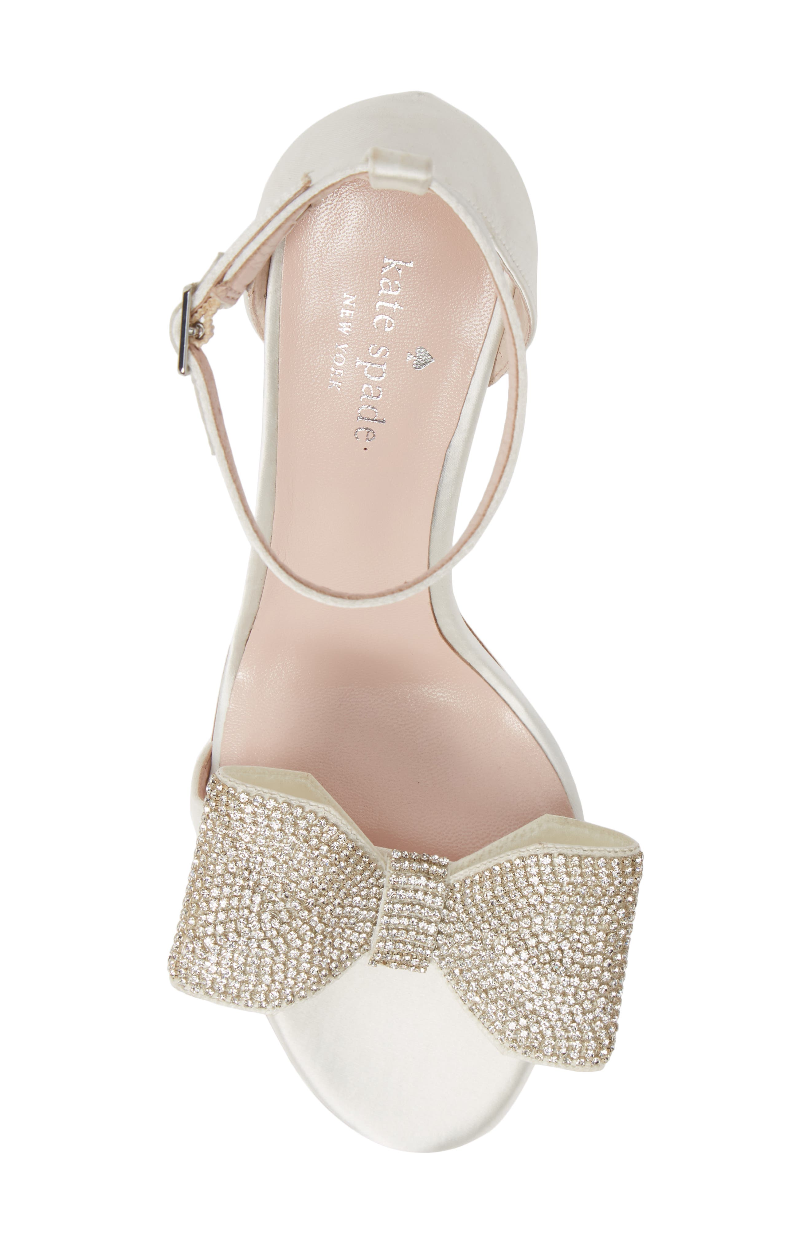 gweneth crystal bow ankle strap sandal,                             Alternate thumbnail 5, color,                             900