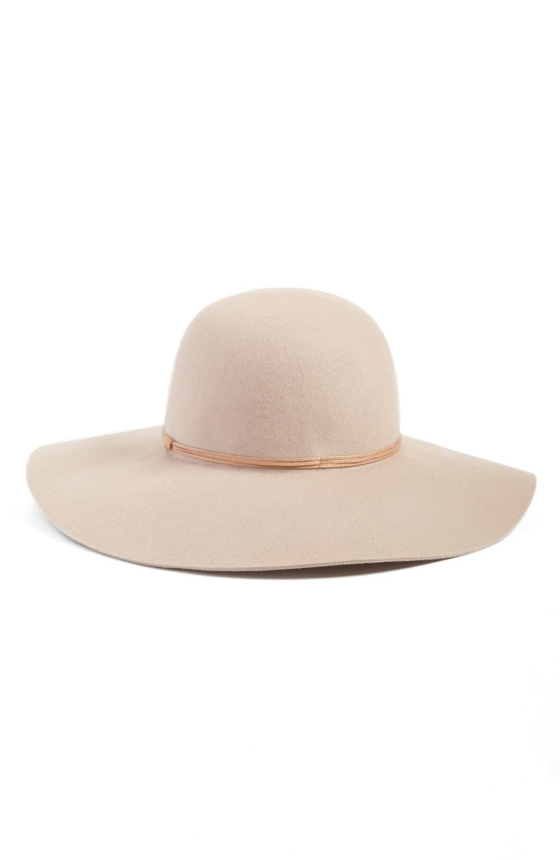 Floppy Wool Hat,                             Main thumbnail 6, color,