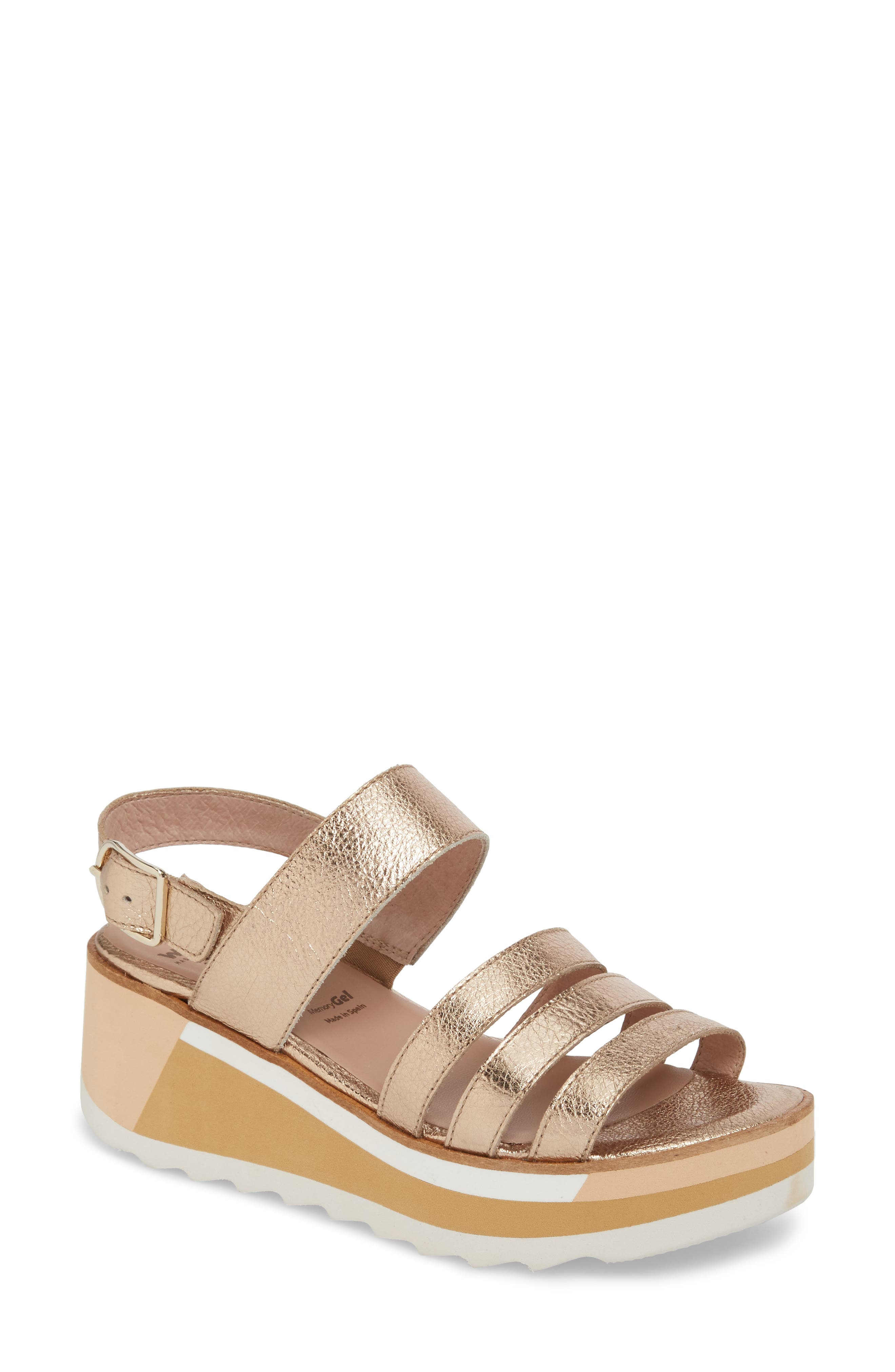 Wonders Slingback Wedge Sandal, Grey