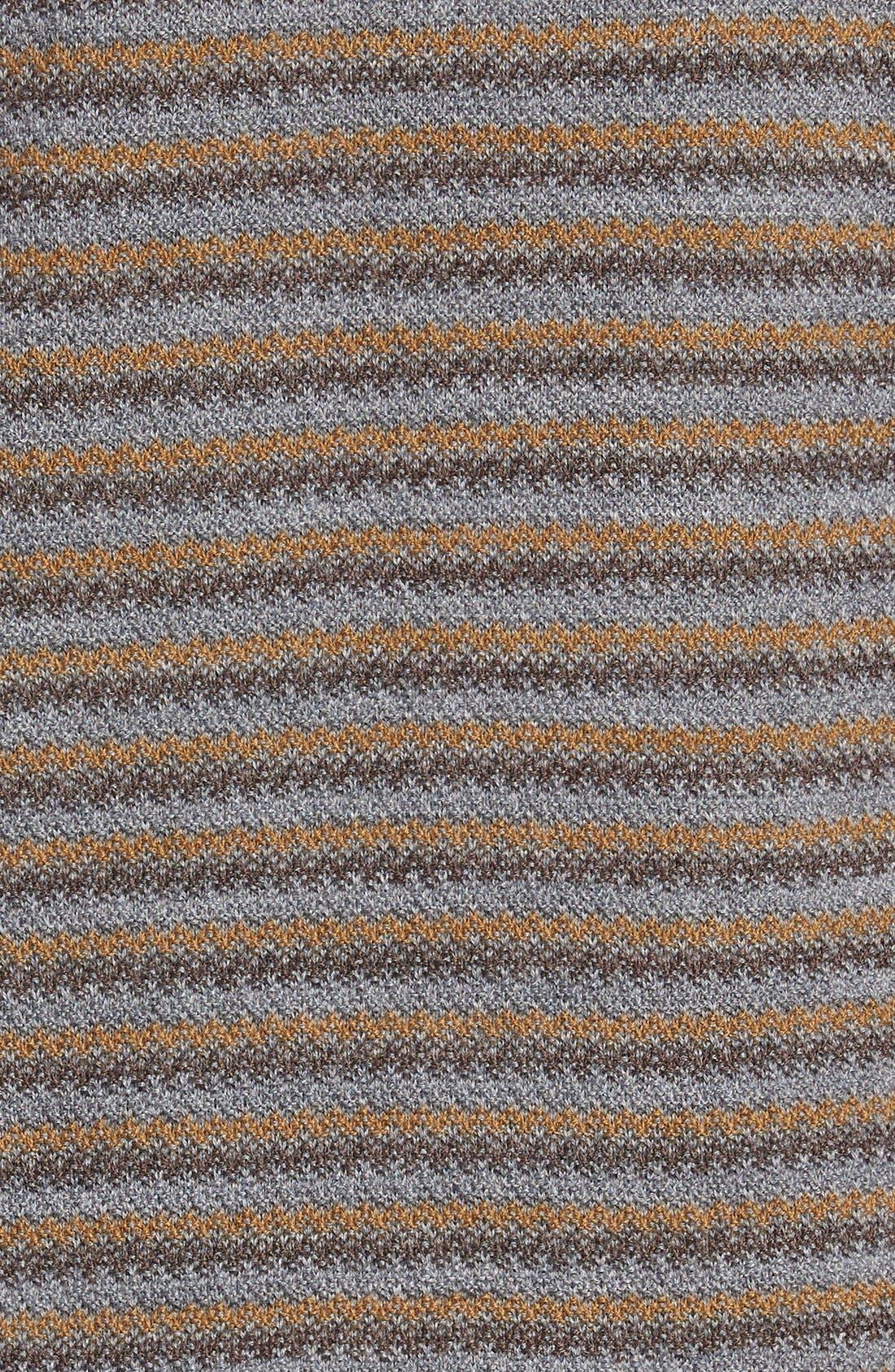 'Douglas Range' Quarter Zip Stripe Wool Blend Sweater,                             Alternate thumbnail 2, color,                             200