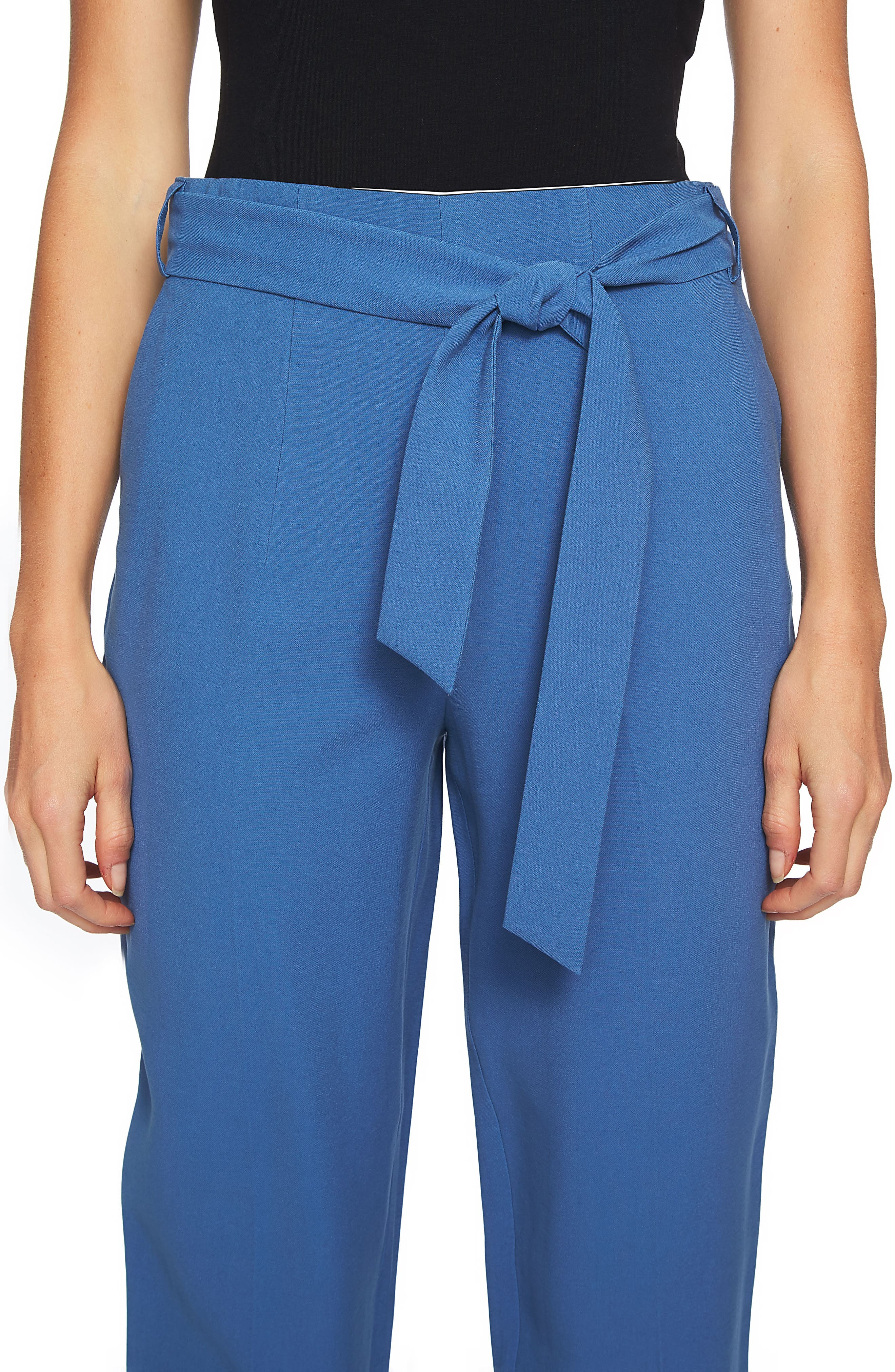 Tie Waist Tapered Trousers,                             Alternate thumbnail 6, color,