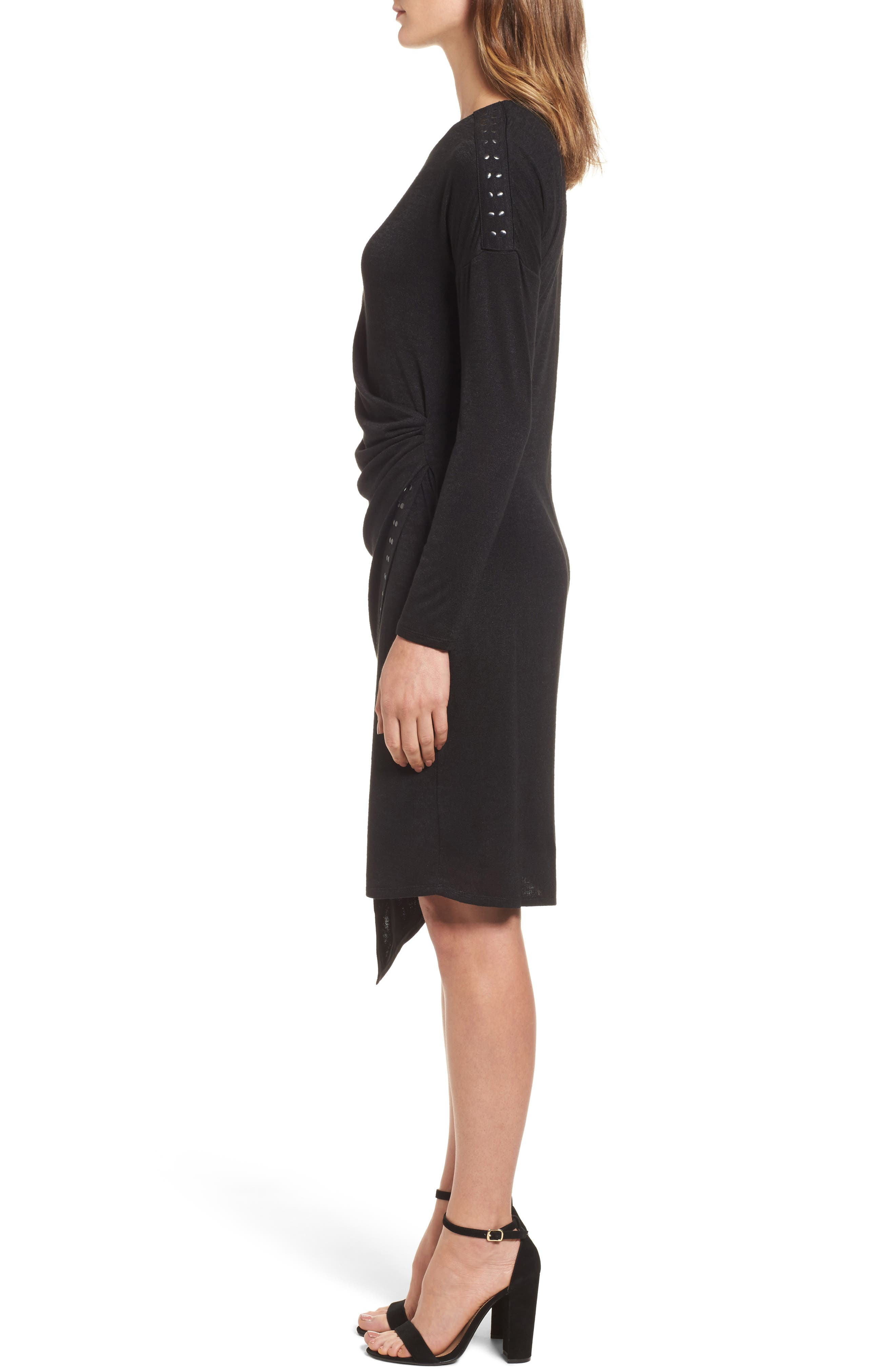 Studded Every Occasion Dress,                             Alternate thumbnail 3, color,                             BLACK ONYX